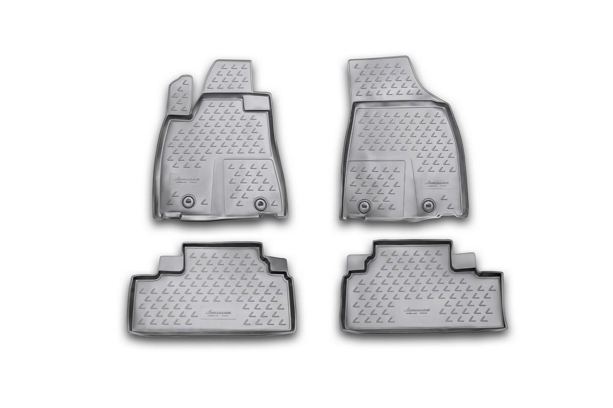 Коврики в салон автомобиля Novline-Autofamily для Lexus RX350, 2012 -, 4 штDFS-524Коврики Novline-Autofamily улучшат внешний вид салона автомобиля и надежно уберегут его от пыли, грязи и сырости, а значит, защитят кузов от коррозии. Полиуретановые коврики гладкие, приятные и не пропускает влагу. Полиуретановые автомобильные коврики произведены из высококачественного материала, который держит форму и не пачкает обувь. Коврики надежно крепятся на полу и не скользят, что очень важно во время движения, особенно для водителя. Изделия из полиуретана надежно удерживают грязь и влагу, при этом всегда выглядят довольно опрятно. И чистятся они очень просто: как при помощи автомобильного пылесоса, так и различными моющими средствами.