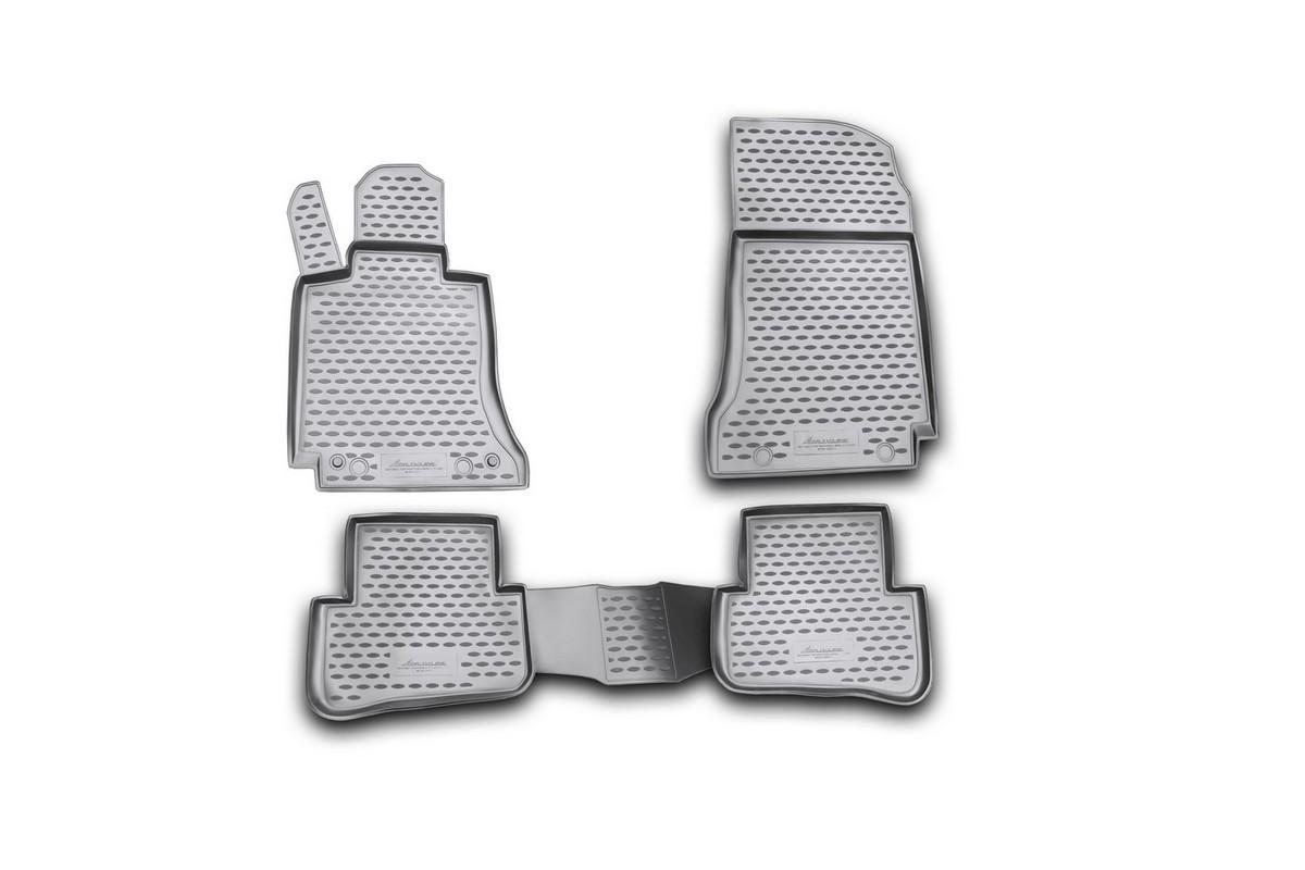 Набор автомобильных ковриков Novline-Autofamily для Mercedes-Benz C-Klasse W204 2007-2014, в салон, 4 штVT-1520(SR)Набор автомобильных ковриков Novline-Autofamily, изготовленный из полиуретана, состоит из 4 ковриков, которые учитывают все особенности каждой модели автомобиля и полностью повторяют контуры пола. Полиуретановые автомобильные коврики для салона произведены из высококачественного материала, который держит форму, прочный и не пачкает обувь. Коврики в салон не только улучшат внешний вид салона вашего автомобиля, но и надежно уберегут его от пыли, грязи и сырости, а значит, защитят кузов от коррозии. Полиуретановые коврики для автомобиля гладкие, приятные и не пропускают влагу. Ковры для автомобилей надежно крепятся на полу и не скользят, что очень важно во время движения. Чистятся коврики очень просто: как при помощи автомобильного пылесоса, так и различными моющими средствами. Набор подходит для Mercedes-Benz C-Klasse W204 2007-2014 годов выпуска.