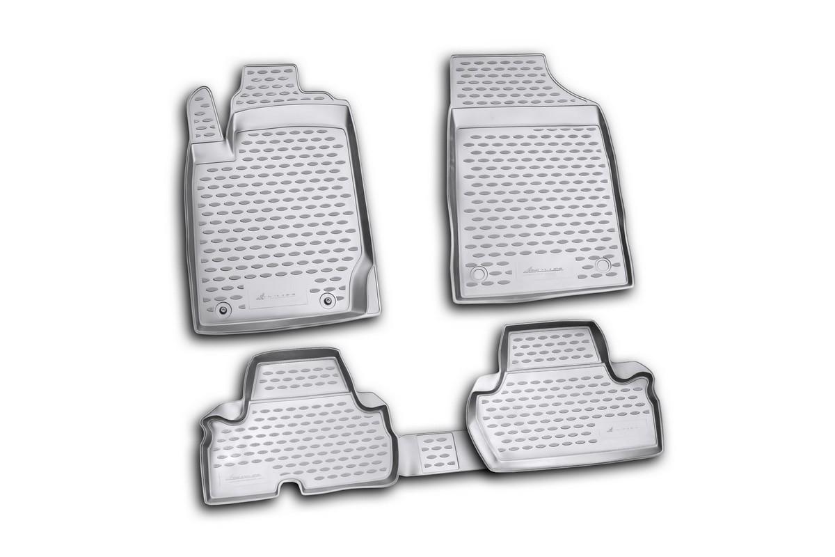 Набор автомобильных ковриков Novline-Autofamily для Mitsubishi L-200 2D 2010-2015, в салон, 4 штNLC.35.26.210kНабор автомобильных ковриков Novline-Autofamily, изготовленный из полиуретана, состоит из 4 ковриков, которые учитывают все особенности каждой модели автомобиля и полностью повторяют контуры пола. Полиуретановые автомобильные коврики для салона произведены из высококачественного материала, который держит форму, прочный и не пачкает обувь. Коврики в салон не только улучшат внешний вид салона вашего автомобиля, но и надежно уберегут его от пыли, грязи и сырости, а значит, защитят кузов от коррозии. Полиуретановые коврики для автомобиля гладкие, приятные и не пропускают влагу. Ковры для автомобилей надежно крепятся на полу и не скользят, что очень важно во время движения. Чистятся коврики очень просто: как при помощи автомобильного пылесоса, так и различными моющими средствами. Набор подходит для Mitsubishi L-200 2D 2010-2015 годов выпуска.