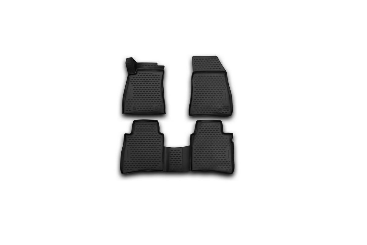 Набор автомобильных 3D -ковриков в салон Novline-Autofamily для Nissan Tiida, 2015 -, 4 штNLC.36.56.210kНабор Novline-Autofamily состоит из 4 ковриков, изготовленных из полиуретана. Основная функция ковров - защита салона автомобиля от загрязнения и влаги. Это достигается за счет высоких бортов, перемычки на тоннель заднего ряда сидений, элементов формы и текстуры, свойств материала, а также запатентованной технологией 3D-перемычки в зоне отдыха ноги водителя, что обеспечивает дополнительную защиту, сохраняя салон автомобиля в первозданном виде. Материал, из которого сделаны коврики, обладает антискользящими свойствами. Для фиксации ковров в салоне автомобиля в комплекте с ними используются специальные крепежи. Форма передней части водительского ковра, уходящая под педаль акселератора, исключает нештатное заедание педалей. Набор подходит для Nissan Tiida с 2015 года выпуска.