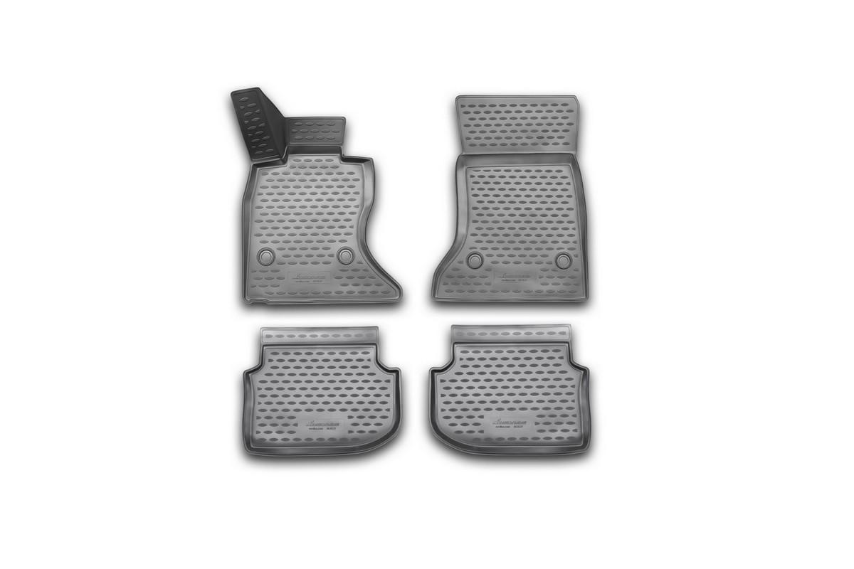 Набор автомобильных 3D-ковриков Novline-Autofamily для BMW 5 (F10), 2010-2013, в салон, 4 штNLC.3D.05.32.210kНабор Novline-Autofamily состоит из 4 ковриков, изготовленных из полиуретана. Основная функция ковров - защита салона автомобиля от загрязнения и влаги. Это достигается за счет высоких бортов, перемычки на тоннель заднего ряда сидений, элементов формы и текстуры, свойств материала, а также запатентованной технологией 3D-перемычки в зоне отдыха ноги водителя, что обеспечивает дополнительную защиту, сохраняя салон автомобиля в первозданном виде. Материал, из которого сделаны коврики, обладает антискользящими свойствами. Для фиксации ковров в салоне автомобиля в комплекте с ними используются специальные крепежи. Форма передней части водительского ковра, уходящая под педаль акселератора, исключает нештатное заедание педалей. Набор подходит для BMW 5 (F10) 2010-2013 года выпуска.