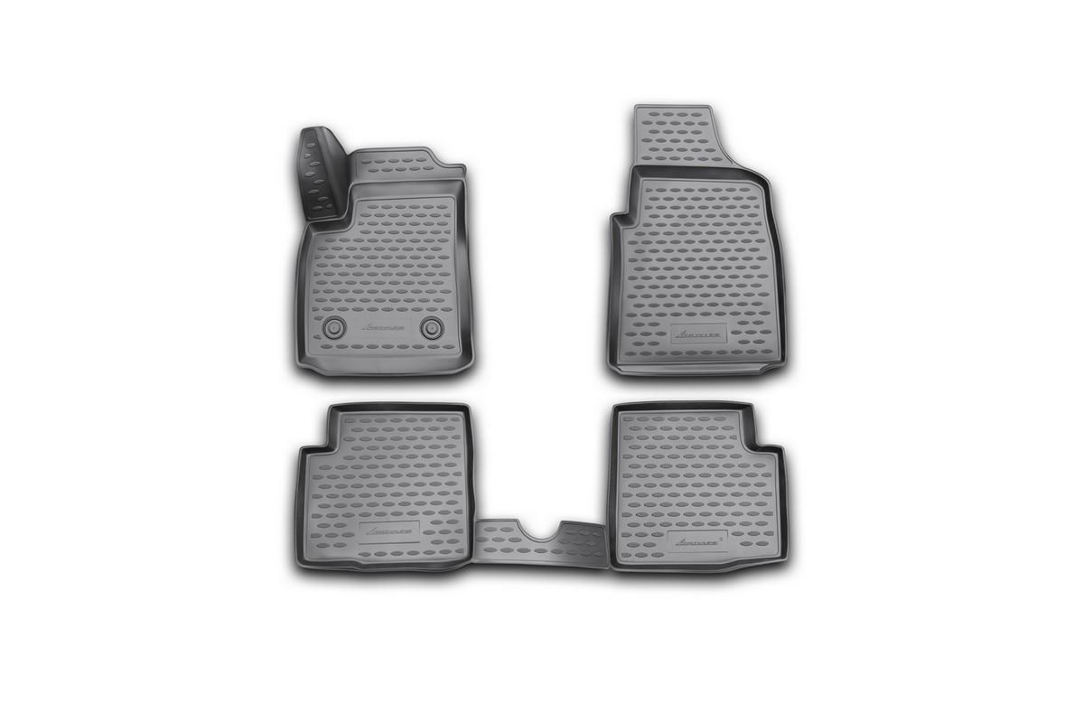 Набор автомобильных 3D-ковриков Novline-Autofamily для Ford Ka, 2008->, в салон, 4 штNLC.3D.16.37.210kНабор Novline-Autofamily состоит из 4 ковриков, изготовленных из полиуретана. Основная функция ковров - защита салона автомобиля от загрязнения и влаги. Это достигается за счет высоких бортов, перемычки на тоннель заднего ряда сидений, элементов формы и текстуры, свойств материала, а также запатентованной технологией 3D-перемычки в зоне отдыха ноги водителя, что обеспечивает дополнительную защиту, сохраняя салон автомобиля в первозданном виде. Материал, из которого сделаны коврики, обладает антискользящими свойствами. Для фиксации ковров в салоне автомобиля в комплекте с ними используются специальные крепежи. Форма передней части водительского ковра, уходящая под педаль акселератора, исключает нештатное заедание педалей. Набор подходит для Ford Ka с 2008 года выпуска.