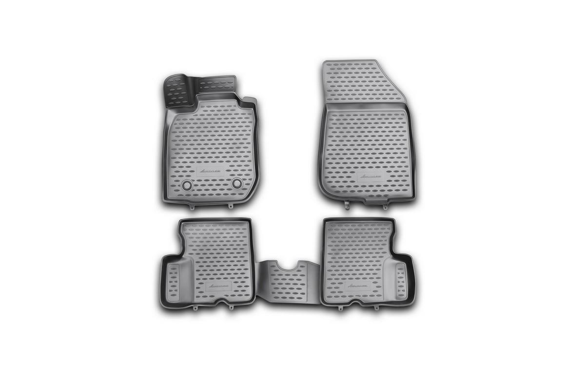 Набор автомобильных 3D-ковриков Novline-Autofamily для Renault Duster, 2011-2015, в салон, 4 штNLC.3D.41.29.210khНабор Novline-Autofamily состоит из 4 ковриков, изготовленных из полиуретана. Основная функция ковров - защита салона автомобиля от загрязнения и влаги. Это достигается за счет высоких бортов, перемычки на тоннель заднего ряда сидений, элементов формы и текстуры, свойств материала, а также запатентованной технологией 3D-перемычки в зоне отдыха ноги водителя, что обеспечивает дополнительную защиту, сохраняя салон автомобиля в первозданном виде. Материал, из которого сделаны коврики, обладает антискользящими свойствами. Для фиксации ковров в салоне автомобиля в комплекте с ними используются специальные крепежи. Форма передней части водительского ковра, уходящая под педаль акселератора, исключает нештатное заедание педалей. Набор подходит для Renault Duster 2011-2015 года выпуска.