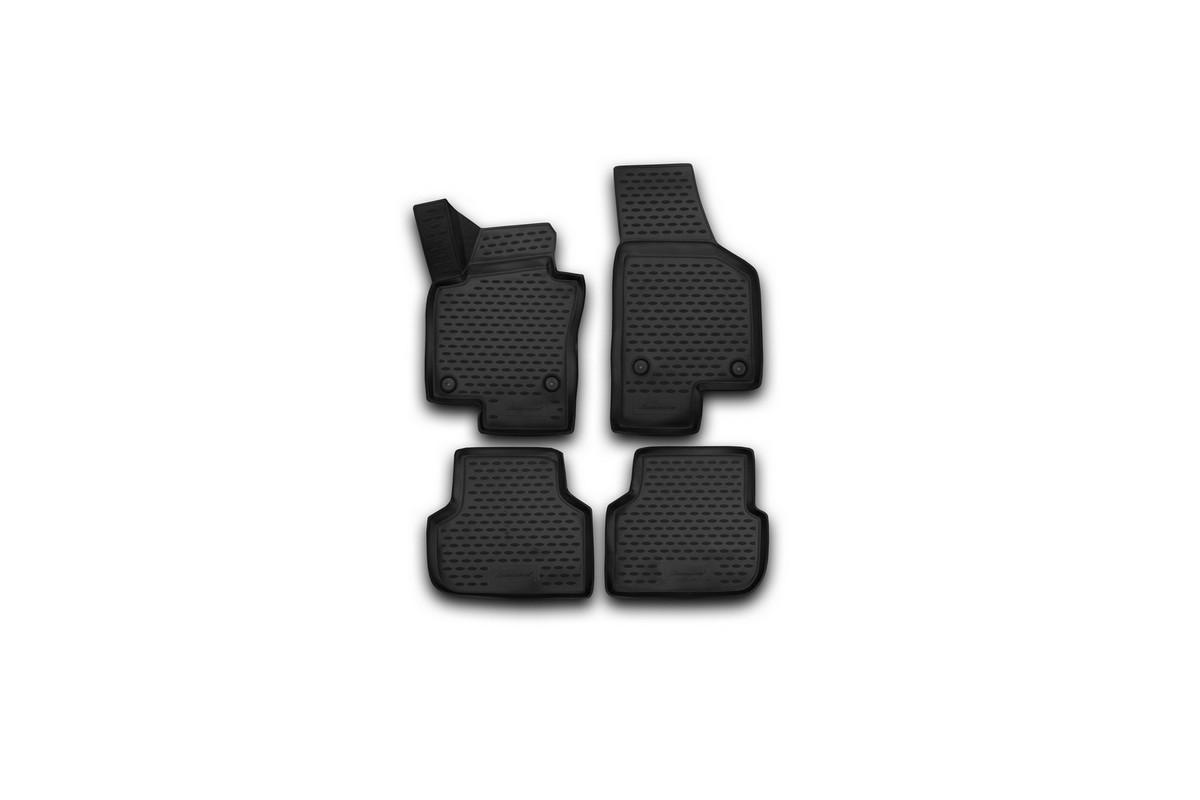 Набор автомобильных 3D-ковриков Novline-Autofamily для Volkswagen Jetta, 2011-2015, в салон, 4 шт набор автомобильных ковриков novline autofamily для volkswagen passat b7 2011 2015 в салон 4 шт