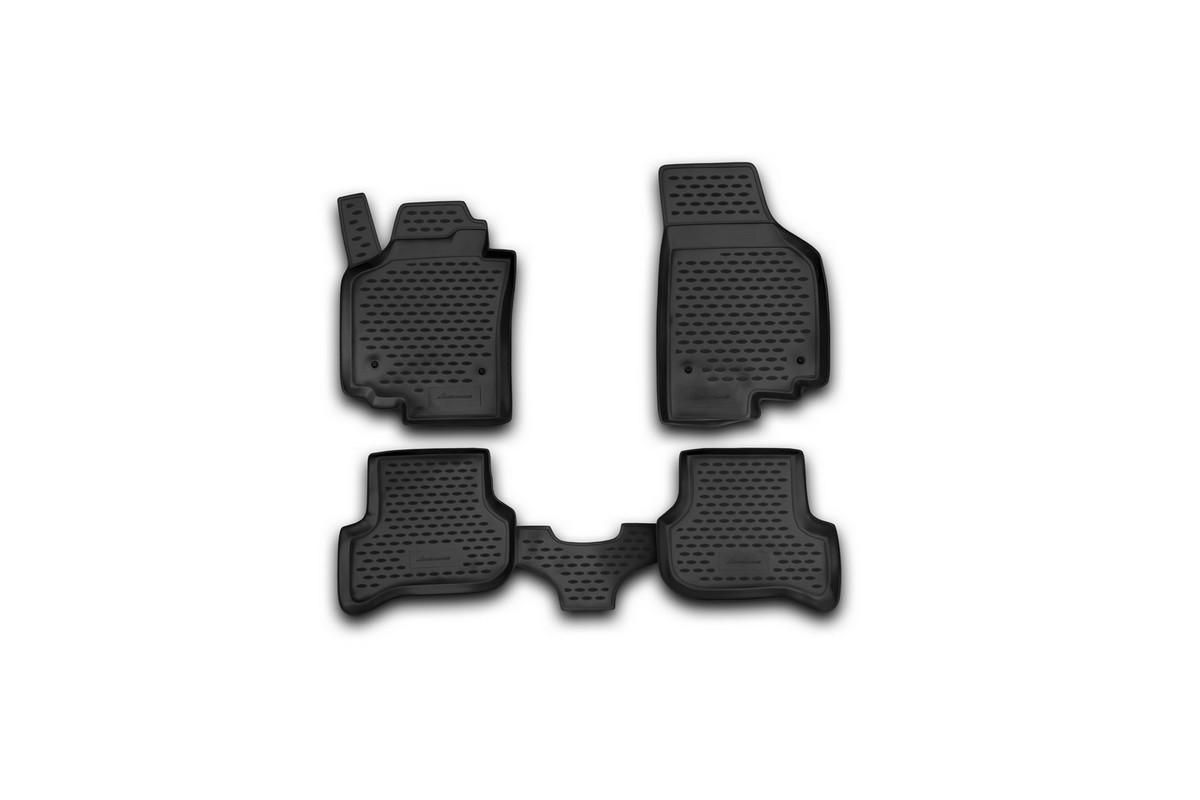 Набор автомобильных ковриков Novline-Autofamily для Seat Altea 01/2005-, универсал, в салон, 4 штVT-1520(SR)Набор автомобильных ковриков Novline-Autofamily, изготовленный из полиуретана, состоит из 4 ковриков, которые учитывают все особенности каждой модели автомобиля и полностью повторяют контуры пола. Полиуретановые автомобильные коврики для салона произведены из высококачественного материала, который держит форму, прочный и не пачкает обувь. Коврики в салон не только улучшат внешний вид салона вашего автомобиля, но и надежно уберегут его от пыли, грязи и сырости, а значит, защитят кузов от коррозии. Полиуретановые коврики для автомобиля гладкие, приятные и не пропускают влагу. Ковры для автомобилей надежно крепятся на полу и не скользят, что очень важно во время движения. Чистятся коврики очень просто: как при помощи автомобильного пылесоса, так и различными моющими средствами. Набор подходит для Seat Altea универсал с января 2005 года выпуска.