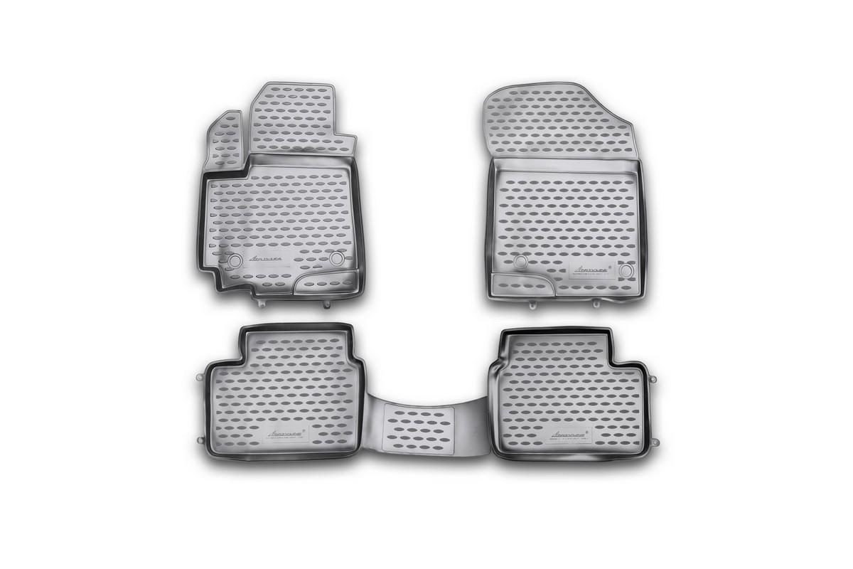 Набор автомобильных ковриков Novline-Autofamily для Suzuki Swift 2010-, в салон, 4 шт. NLC.47.21.210khNLC.47.21.210khНабор автомобильных ковриков Novline-Autofamily, изготовленный из полиуретана, состоит из 4 ковриков, которые учитывают все особенности каждой модели автомобиля и полностью повторяют контуры пола. Полиуретановые автомобильные коврики для салона произведены из высококачественного материала, который держит форму, прочный и не пачкает обувь. Коврики в салон не только улучшат внешний вид салона вашего автомобиля, но и надежно уберегут его от пыли, грязи и сырости, а значит, защитят кузов от коррозии. Полиуретановые коврики для автомобиля гладкие, приятные и не пропускают влагу. Ковры для автомобилей надежно крепятся на полу и не скользят, что очень важно во время движения. Чистятся коврики очень просто: как при помощи автомобильного пылесоса, так и различными моющими средствами. Набор подходит для Suzuki Swift с 2010 года выпуска.