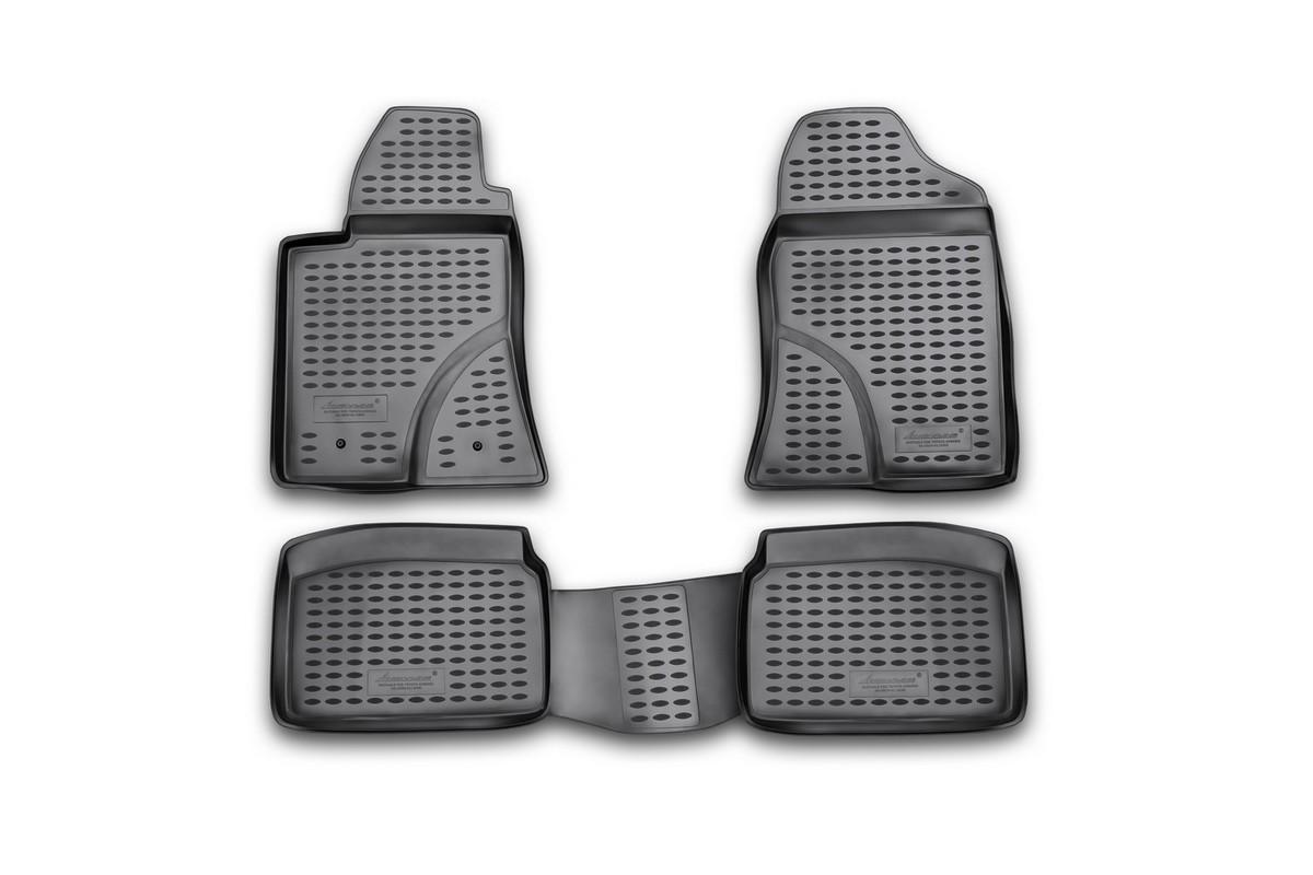 Набор автомобильных ковриков Novline-Autofamily для Toyota Avensis 04/2003-2009, в салон, 4 шт набор автомобильных ковриков novline autofamily для toyota hilux 08 2015 в салон 4 шт