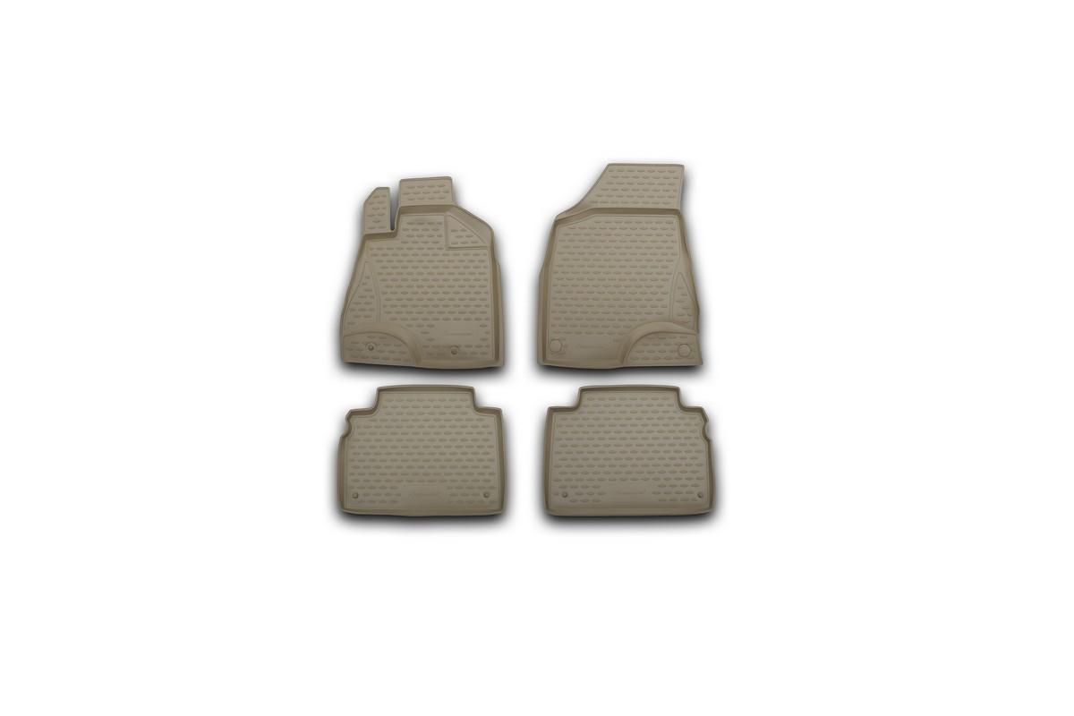 Коврики в салон автомобиля Novline-Autofamily для Toyota Harrier, 2003 - 2008, цвет: бежевый, 4 штVT-1520(SR)Коврики Novline-Autofamily улучшат внешний вид салона автомобиля и надежно уберегут его от пыли, грязи и сырости, а значит, защитят кузов от коррозии. Полиуретановые коврики гладкие, приятные и не пропускает влагу. Полиуретановые автомобильные коврики произведены из высококачественного материала, который держит форму и не пачкает обувь. Коврики надежно крепятся на полу и не скользят, что очень важно во время движения, особенно для водителя. Изделия из полиуретана надежно удерживают грязь и влагу, при этом всегда выглядят довольно опрятно. И чистятся они очень просто: как при помощи автомобильного пылесоса, так и различными моющими средствами.