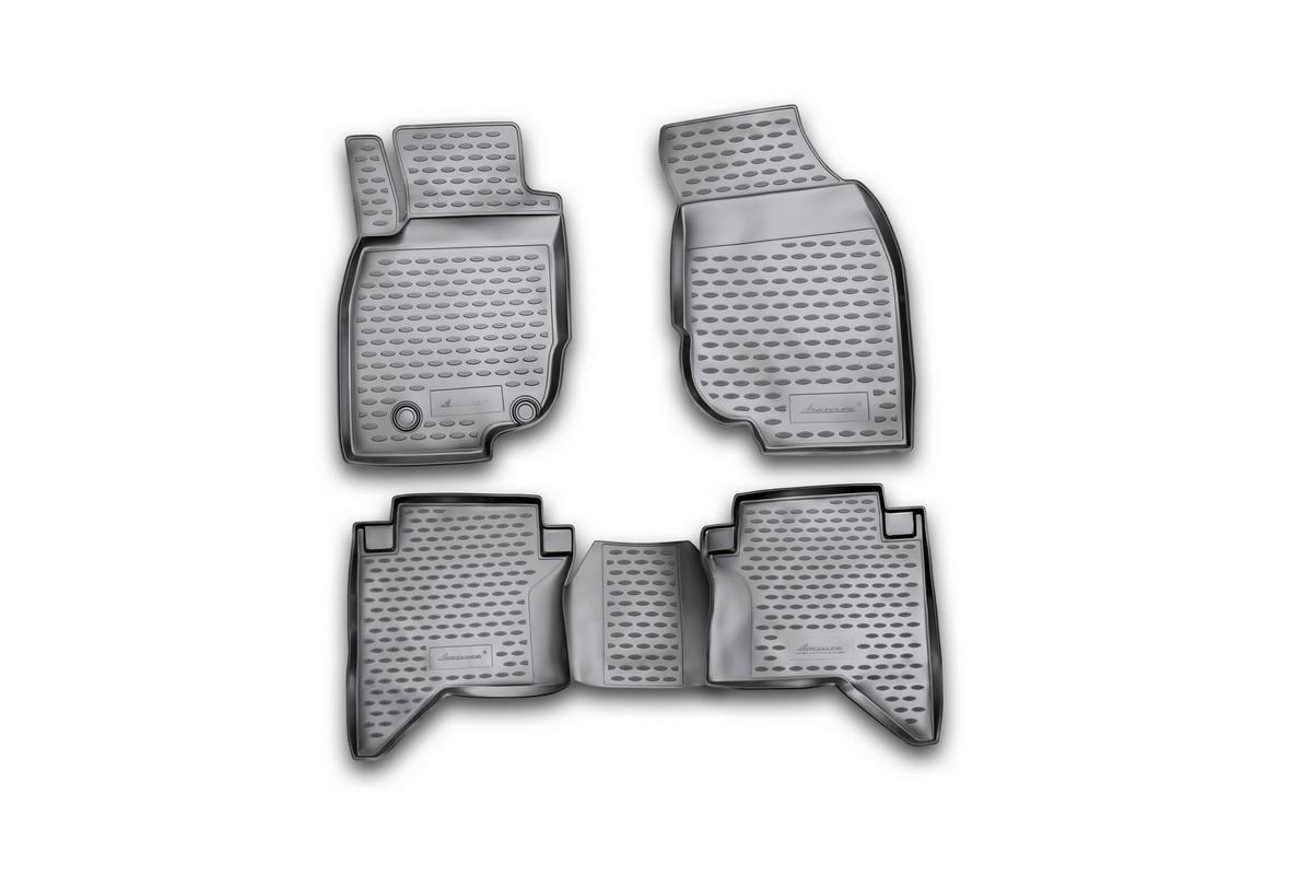 Набор автомобильных ковриков Novline-Autofamily для Toyota Hilux 2011-, в салон, 4 шт набор автомобильных ковриков novline autofamily для toyota hilux 2011 в салон 4 шт