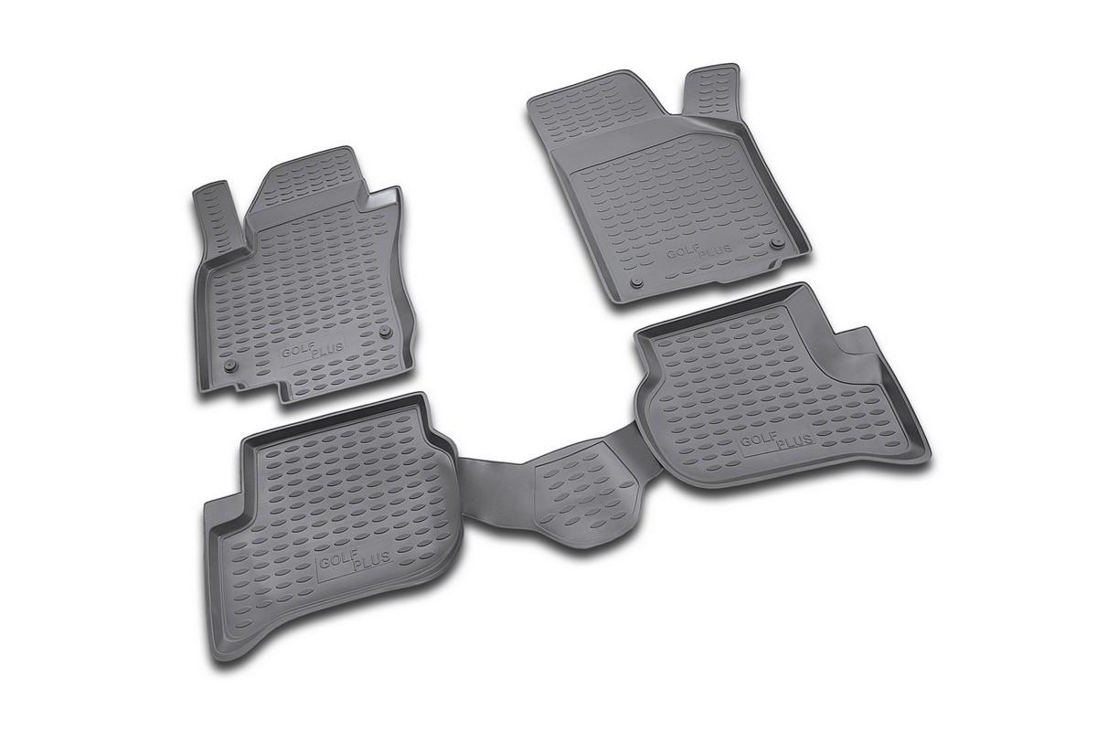 Коврики в салон автомобиля Novline-Autofamily для VW Golf Plus, 12/2004 -, 4 штVT-1520(SR)Коврики Novline-Autofamily улучшат внешний вид салона автомобиля и надежно уберегут его от пыли, грязи и сырости, а значит, защитят кузов от коррозии. Полиуретановые коврики гладкие, приятные и не пропускает влагу. Полиуретановые автомобильные коврики произведены из высококачественного материала, который держит форму и не пачкает обувь. Коврики надежно крепятся на полу и не скользят, что очень важно во время движения, особенно для водителя. Изделия из полиуретана надежно удерживают грязь и влагу, при этом всегда выглядят довольно опрятно. И чистятся они очень просто: как при помощи автомобильного пылесоса, так и различными моющими средствами.