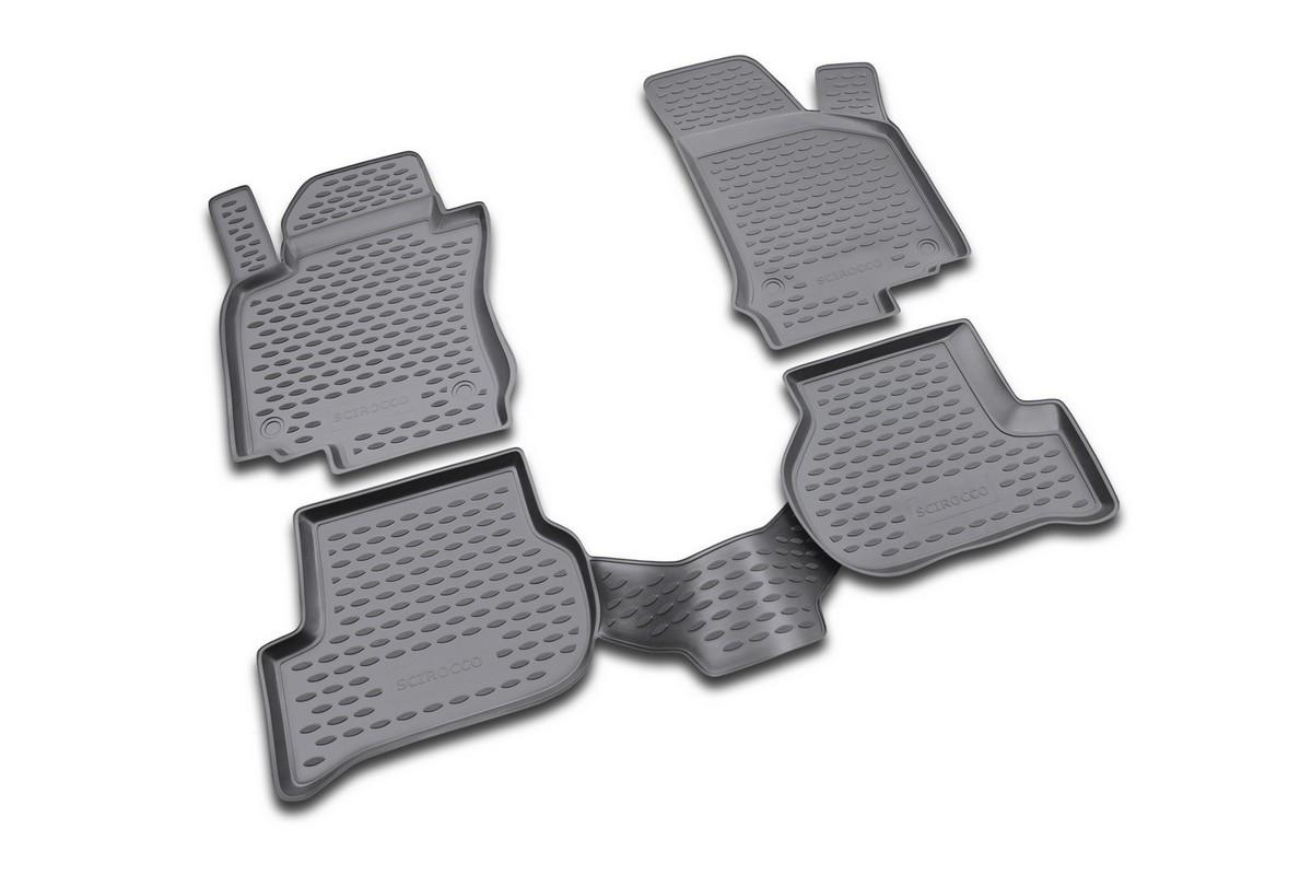 Набор автомобильных ковриков Novline-Autofamily для Volkswagen Scirocco 04/2009-, в салон, 4 штNLC.51.27.210kНабор автомобильных ковриков Novline-Autofamily, изготовленный из полиуретана, состоит из 4 ковриков, которые учитывают все особенности каждой модели автомобиля и полностью повторяют контуры пола. Полиуретановые автомобильные коврики для салона произведены из высококачественного материала, который держит форму, прочный и не пачкает обувь. Коврики в салон не только улучшат внешний вид салона вашего автомобиля, но и надежно уберегут его от пыли, грязи и сырости, а значит, защитят кузов от коррозии. Полиуретановые коврики для автомобиля гладкие, приятные и не пропускают влагу. Ковры для автомобилей надежно крепятся на полу и не скользят, что очень важно во время движения. Чистятся коврики очень просто: как при помощи автомобильного пылесоса, так и различными моющими средствами. Набор подходит для Volkswagen Scirocco с апреля 2009 года выпуска.