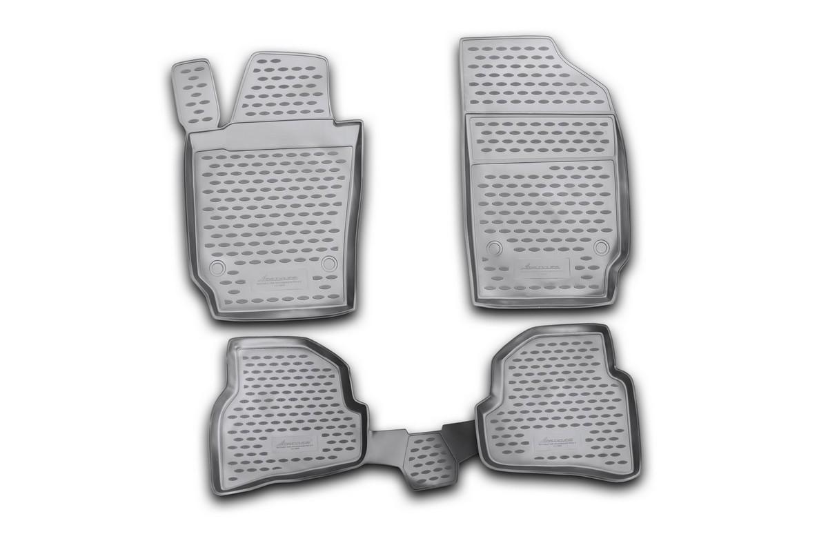 Набор автомобильных ковриков Novline-Autofamily для Volkswagen Polo V 12/2009-, хэтчбек, в салон, 4 штNLC.51.28.210khНабор автомобильных ковриков Novline-Autofamily, изготовленный из полиуретана, состоит из 4 ковриков, которые учитывают все особенности каждой модели автомобиля и полностью повторяют контуры пола. Полиуретановые автомобильные коврики для салона произведены из высококачественного материала, который держит форму, прочный и не пачкает обувь. Коврики в салон не только улучшат внешний вид салона вашего автомобиля, но и надежно уберегут его от пыли, грязи и сырости, а значит, защитят кузов от коррозии. Полиуретановые коврики для автомобиля гладкие, приятные и не пропускают влагу. Ковры для автомобилей надежно крепятся на полу и не скользят, что очень важно во время движения. Чистятся коврики очень просто: как при помощи автомобильного пылесоса, так и различными моющими средствами. Набор подходит для Volkswagen Polo V хэтчбек с декабря 2009 года выпуска.