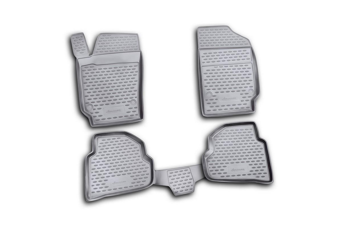 Коврики в салон автомобиля Novline-Autofamily для VW Polo, 2010 -, седан, 4 штNLC.51.30.210kКоврики Novline-Autofamily улучшат внешний вид салона автомобиля и надежно уберегут его от пыли, грязи и сырости, а значит, защитят кузов от коррозии. Полиуретановые коврики гладкие, приятные и не пропускает влагу. Полиуретановые автомобильные коврики произведены из высококачественного материала, который держит форму и не пачкает обувь. Коврики надежно крепятся на полу и не скользят, что очень важно во время движения, особенно для водителя. Изделия из полиуретана надежно удерживают грязь и влагу, при этом всегда выглядят довольно опрятно. И чистятся они очень просто: как при помощи автомобильного пылесоса, так и различными моющими средствами.