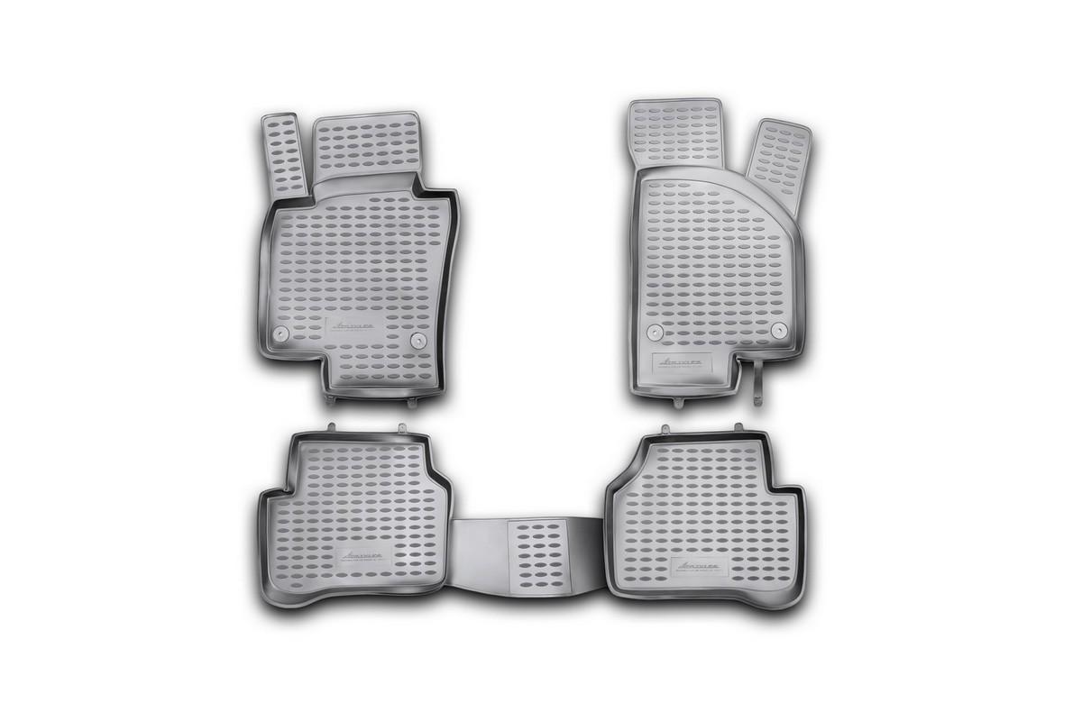 Набор автомобильных ковриков Novline-Autofamily для Volkswagen Passat B7 2011-2015, в салон, 4 шт коврики в салон vw passat b7 2011 2015 4 шт полиуретан