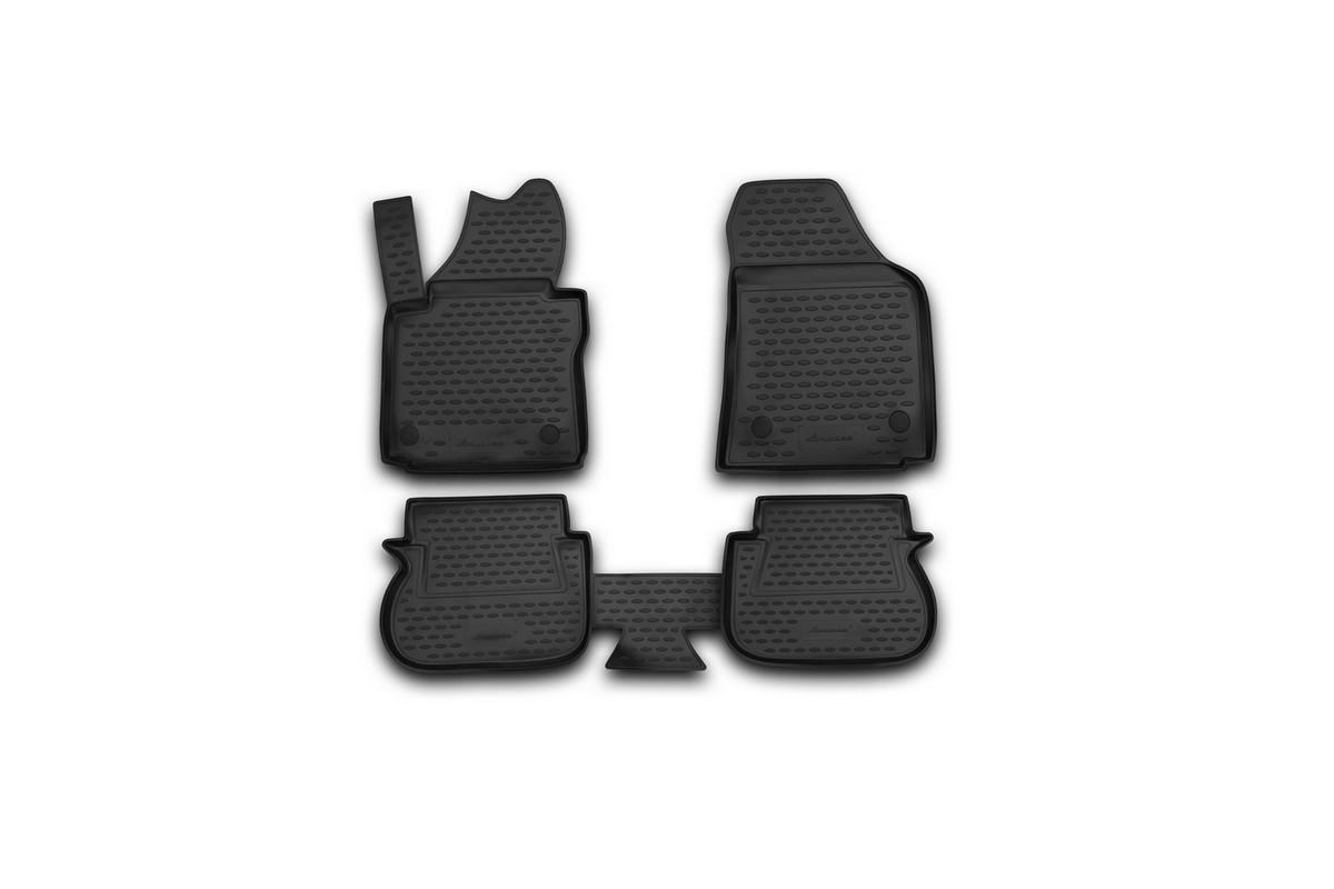 Набор автомобильных ковриков Novline-Autofamily для Volkswagen Caddy 10/2007-, 5-дверный, в салон, 4 штVT-1520(SR)Набор автомобильных ковриков Novline-Autofamily, изготовленный из полиуретана, состоит из 4 ковриков, которые учитывают все особенности каждой модели автомобиля и полностью повторяют контуры пола. Полиуретановые автомобильные коврики для салона произведены из высококачественного материала, который держит форму, прочный и не пачкает обувь. Коврики в салон не только улучшат внешний вид салона вашего автомобиля, но и надежно уберегут его от пыли, грязи и сырости, а значит, защитят кузов от коррозии. Полиуретановые коврики для автомобиля гладкие, приятные и не пропускают влагу. Ковры для автомобилей надежно крепятся на полу и не скользят, что очень важно во время движения. Чистятся коврики очень просто: как при помощи автомобильного пылесоса, так и различными моющими средствами. Набор подходит для Volkswagen Caddy 5-дверный с октября 2007 года выпуска.