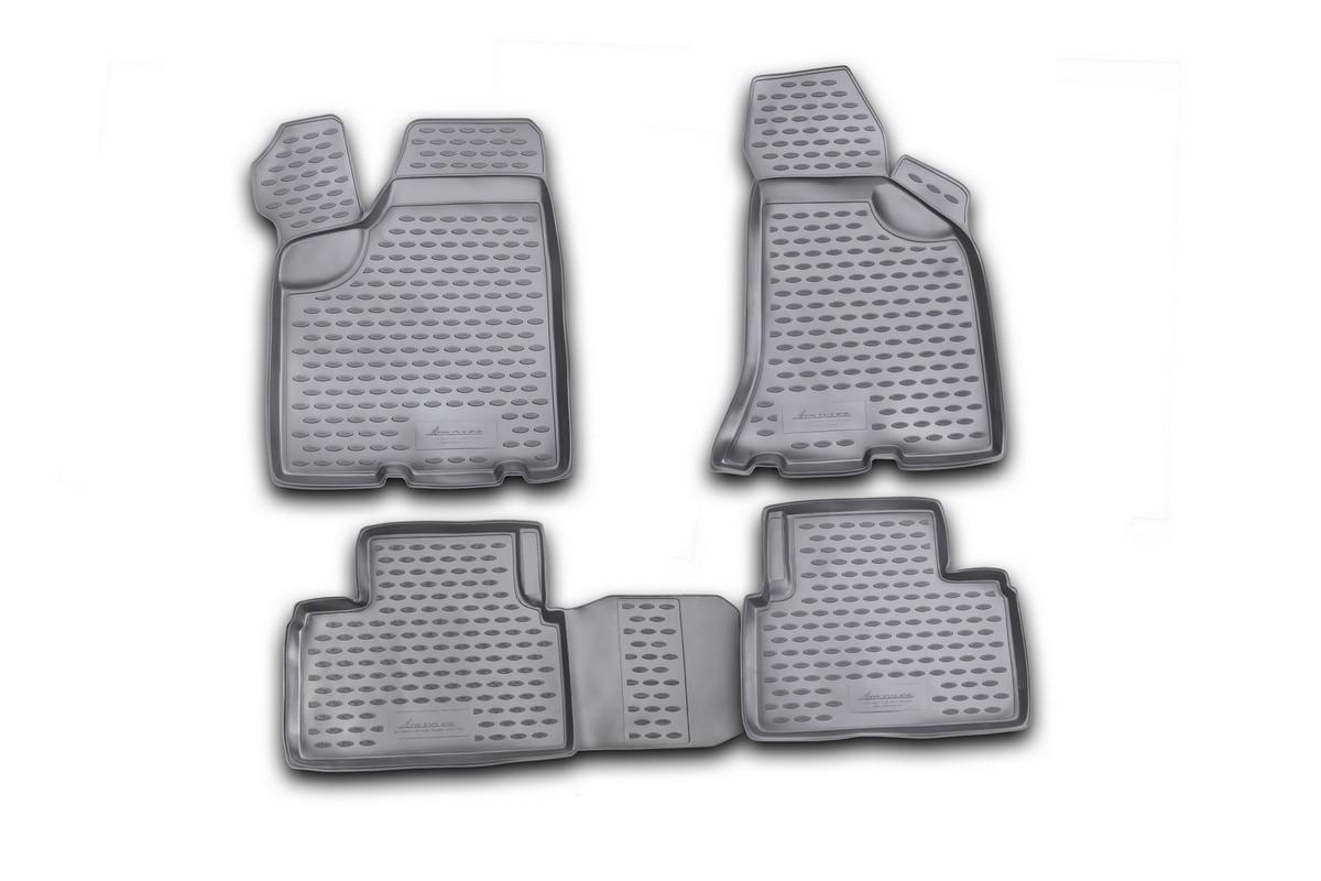 Набор автомобильных ковриков Novline-Autofamily для Lada Priora 2007-2009, в салон, 4 штNLC.52.16.210Набор автомобильных ковриков Novline-Autofamily, изготовленный из полиуретана, состоит из 4 ковриков, которые учитывают все особенности каждой модели автомобиля и полностью повторяют контуры пола. Полиуретановые автомобильные коврики для салона произведены из высококачественного материала, который держит форму, прочный и не пачкает обувь. Коврики в салон не только улучшат внешний вид салона вашего автомобиля, но и надежно уберегут его от пыли, грязи и сырости, а значит, защитят кузов от коррозии. Полиуретановые коврики для автомобиля гладкие, приятные и не пропускают влагу. Ковры для автомобилей надежно крепятся на полу и не скользят, что очень важно во время движения. Чистятся коврики очень просто: как при помощи автомобильного пылесоса, так и различными моющими средствами. Набор подходит для Lada Priora 2007-2009 годов выпуска.