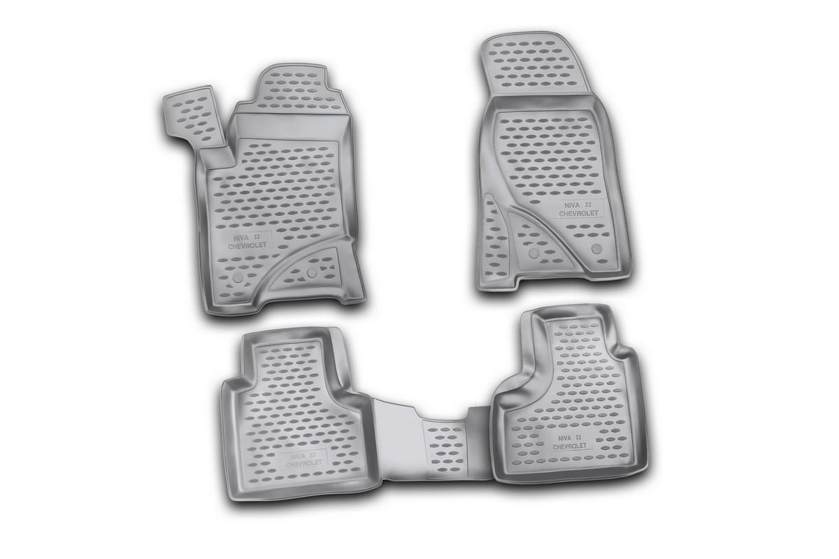 Набор автомобильных ковриков Novline-Autofamily для Chevrolet Niva 2009-, в салон, 4 штNLC.52.17.210Набор автомобильных ковриков Novline-Autofamily, изготовленный из полиуретана, состоит из 4 ковриков, которые учитывают все особенности каждой модели автомобиля и полностью повторяют контуры пола. Полиуретановые автомобильные коврики для салона произведены из высококачественного материала, который держит форму, прочный и не пачкает обувь. Коврики в салон не только улучшат внешний вид салона вашего автомобиля, но и надежно уберегут его от пыли, грязи и сырости, а значит, защитят кузов от коррозии. Полиуретановые коврики для автомобиля гладкие, приятные и не пропускают влагу. Ковры для автомобилей надежно крепятся на полу и не скользят, что очень важно во время движения. Чистятся коврики очень просто: как при помощи автомобильного пылесоса, так и различными моющими средствами. Набор подходит для Chevrolet Niva с 2009 года выпуска.