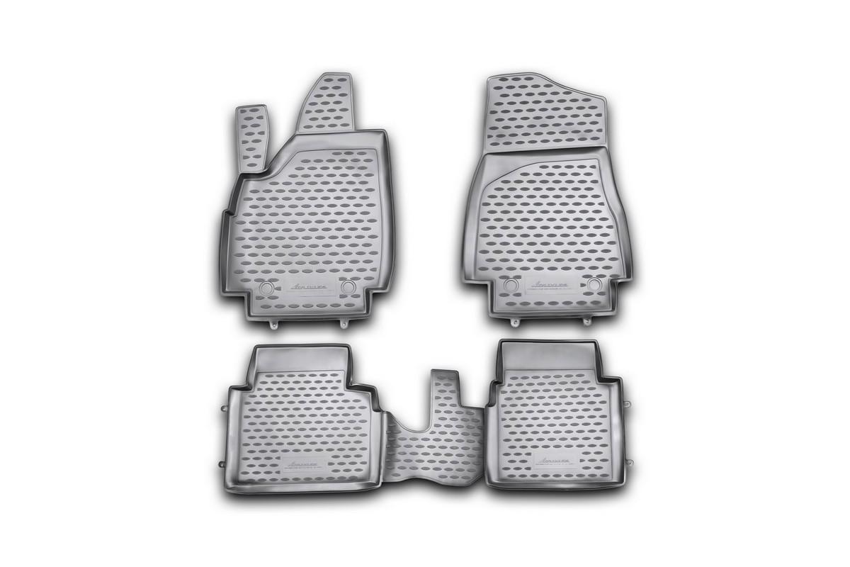 Набор автомобильных ковриков Novline-Autofamily для ВАЗ 21214М 3D 10/2009-, в салон, 4 шт. NLC.52.23.210khNLC.52.23.210khНабор автомобильных ковриков Novline-Autofamily, изготовленный из полиуретана, состоит из 4 ковриков, которые учитывают все особенности каждой модели автомобиля и полностью повторяют контуры пола. Полиуретановые автомобильные коврики для салона произведены из высококачественного материала, который держит форму, прочный и не пачкает обувь. Коврики в салон не только улучшат внешний вид салона вашего автомобиля, но и надежно уберегут его от пыли, грязи и сырости, а значит, защитят кузов от коррозии. Полиуретановые коврики для автомобиля гладкие, приятные и не пропускают влагу. Ковры для автомобилей надежно крепятся на полу и не скользят, что очень важно во время движения. Чистятся коврики очень просто: как при помощи автомобильного пылесоса, так и различными моющими средствами. Набор подходит для ВАЗ 21214М 3D с октября 2009 года выпуска.