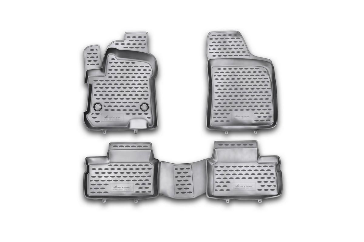 Набор автомобильных ковриков Novline-Autofamily для Chery Indis 2011-, в салон, 4 шт. NLC.63.12.210khNLC.63.12.210khНабор автомобильных ковриков Novline-Autofamily, изготовленный из полиуретана, состоит из 4 ковриков, которые учитывают все особенности каждой модели автомобиля и полностью повторяют контуры пола. Полиуретановые автомобильные коврики для салона произведены из высококачественного материала, который держит форму, прочный и не пачкает обувь. Коврики в салон не только улучшат внешний вид салона вашего автомобиля, но и надежно уберегут его от пыли, грязи и сырости, а значит, защитят кузов от коррозии. Полиуретановые коврики для автомобиля гладкие, приятные и не пропускают влагу. Ковры для автомобилей надежно крепятся на полу и не скользят, что очень важно во время движения. Чистятся коврики очень просто: как при помощи автомобильного пылесоса, так и различными моющими средствами. Набор подходит для Chery Indis с 2011 года выпуска.