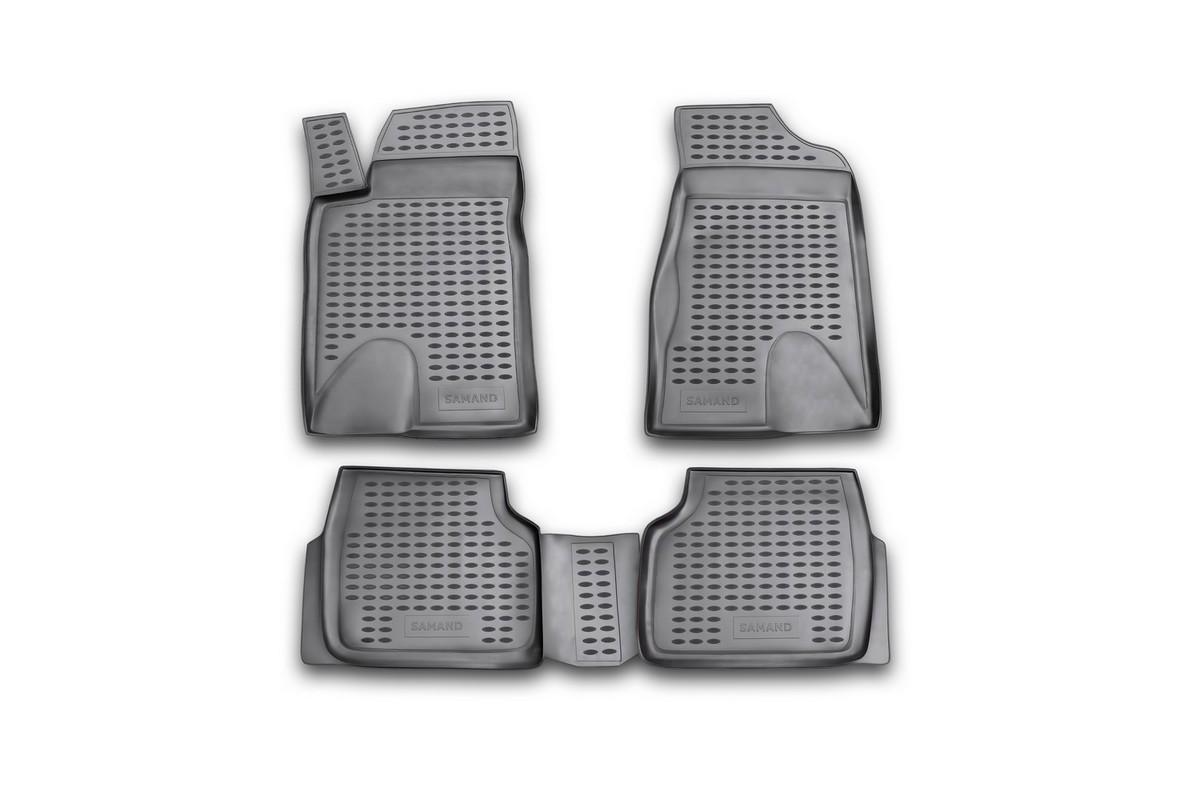 Набор автомобильных ковриков Novline-Autofamily для Iran Khodro Samand 2005-, в салон, 4 штNLC.70.01.210Набор автомобильных ковриков Novline-Autofamily, изготовленный из полиуретана, состоит из 4 ковриков, которые учитывают все особенности каждой модели автомобиля и полностью повторяют контуры пола. Полиуретановые автомобильные коврики для салона произведены из высококачественного материала, который держит форму, прочный и не пачкает обувь. Коврики в салон не только улучшат внешний вид салона вашего автомобиля, но и надежно уберегут его от пыли, грязи и сырости, а значит, защитят кузов от коррозии. Полиуретановые коврики для автомобиля гладкие, приятные и не пропускают влагу. Ковры для автомобилей надежно крепятся на полу и не скользят, что очень важно во время движения. Чистятся коврики очень просто: как при помощи автомобильного пылесоса, так и различными моющими средствами. Набор подходит для Iran Khodro Samand с 2005 года выпуска.