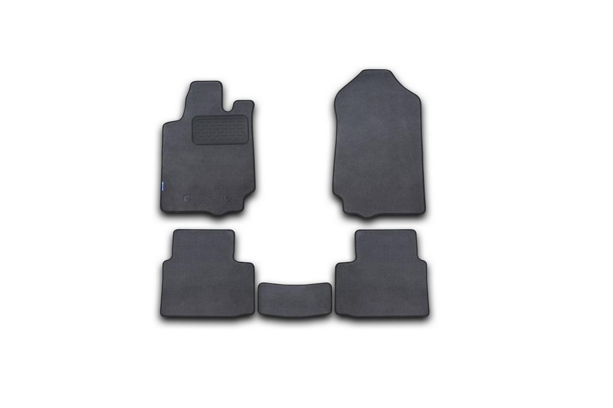 Набор автомобильных ковриков Novline-Autofamily для Ford Ranger RAP Cab 2011-, пикап, в салон, 5 шт набор автомобильных ковриков novline autofamily для toyota hilux double cab акпп 2012 пикап в салон 5 шт