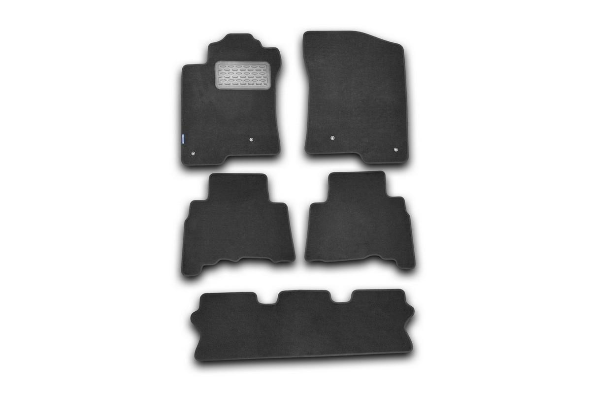 Набор автомобильных ковриков Novline-Autofamily для Lexus GX 460 2010-, внедорожник, в салон, 5 штDFS-524Набор автомобильных ковриков Novline-Autofamily, изготовленный из текстиля, состоит из 5 ковриков, которые учитывают все особенности каждой модели автомобиля и полностью повторяют контуры пола. Текстильные автомобильные коврики для салона произведены из высококачественного материала, который держит форму, прочный и не пачкает обувь. Коврики в салон не только улучшат внешний вид салона вашего автомобиля, но и надежно уберегут его от пыли, грязи и сырости, а значит, защитят кузов от коррозии. Текстильные коврики для автомобиля мягкие и приятные, а их основа из вспененного полиуретана не пропускает влагу. Ковры для автомобилей надежно крепятся на полу и не скользят, что очень важно во время движения. Чистятся коврики очень просто: как при помощи автомобильного пылесоса, так и различными моющими средствами. Набор подходит для Lexus GX 460 внедорожник с 2010 года выпуска.
