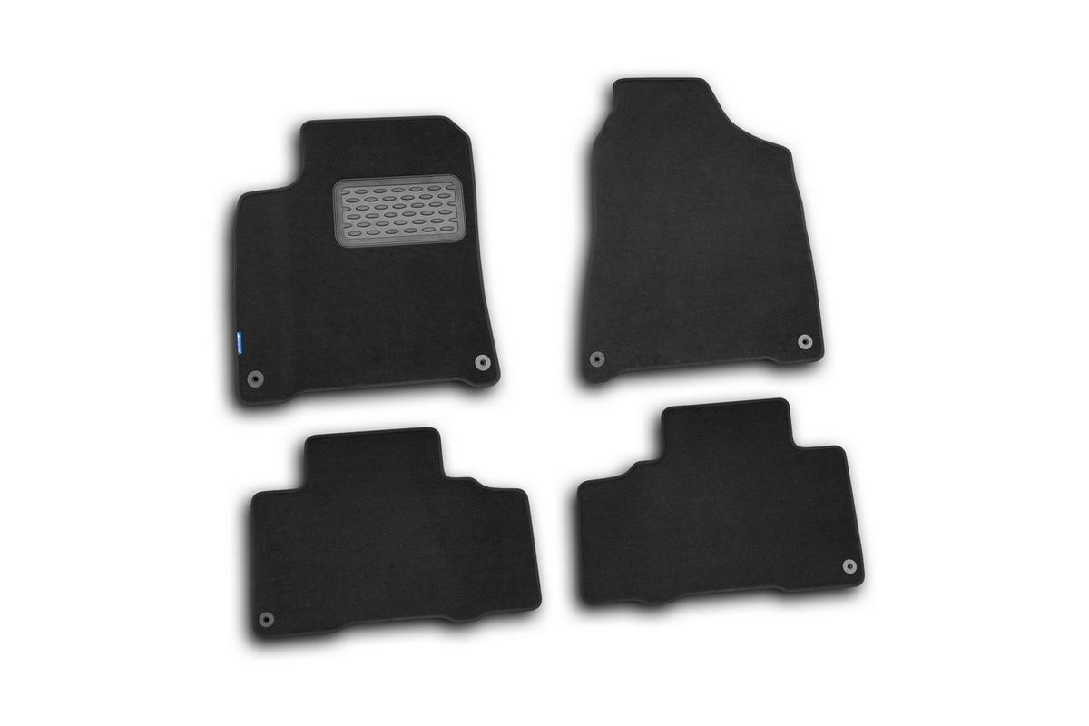 Набор автомобильных ковриков Novline-Autofamily для SsangYong New Actyon 2010-, внедорожник, в салон, 4 штVT-1520(SR)Набор автомобильных ковриков Novline-Autofamily, изготовленный из текстиля, состоит из 4 ковриков, которые учитывают все особенности каждой модели автомобиля и полностью повторяют контуры пола. Текстильные автомобильные коврики для салона произведены из высококачественного материала, который держит форму, прочный и не пачкает обувь. Коврики в салон не только улучшат внешний вид салона вашего автомобиля, но и надежно уберегут его от пыли, грязи и сырости, а значит, защитят кузов от коррозии. Текстильные коврики для автомобиля мягкие и приятные, а их основа из вспененного полиуретана не пропускает влагу. Ковры для автомобилей надежно крепятся на полу и не скользят, что очень важно во время движения. Чистятся коврики очень просто: как при помощи автомобильного пылесоса, так и различными моющими средствами. Набор подходит для SsangYong New Actyon внедорожник с 2010 года выпуска.