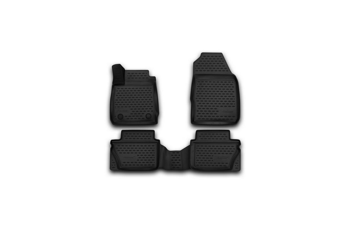 Набор автомобильных 3D-ковриков Novline-Autofamily для Ford Fiesta, 2011-2015, 2015->, седан, хэтчбек, в салон, 4 штORIG.3D.16.58.210kНабор Novline-Autofamily состоит из 4 ковриков, изготовленных из полиуретана. Основная функция ковров - защита салона автомобиля от загрязнения и влаги. Это достигается за счет высоких бортов, перемычки на тоннель заднего ряда сидений, элементов формы и текстуры, свойств материала, а также запатентованной технологией 3D-перемычки в зоне отдыха ноги водителя, что обеспечивает дополнительную защиту, сохраняя салон автомобиля в первозданном виде. Материал, из которого сделаны коврики, обладает антискользящими свойствами. Для фиксации ковров в салоне автомобиля в комплекте с ними используются специальные крепежи. Форма передней части водительского ковра, уходящая под педаль акселератора, исключает нештатное заедание педалей. Набор подходит для Ford Fiesta седан, хэтчбек 2011-2015, 2015-> года выпуска.