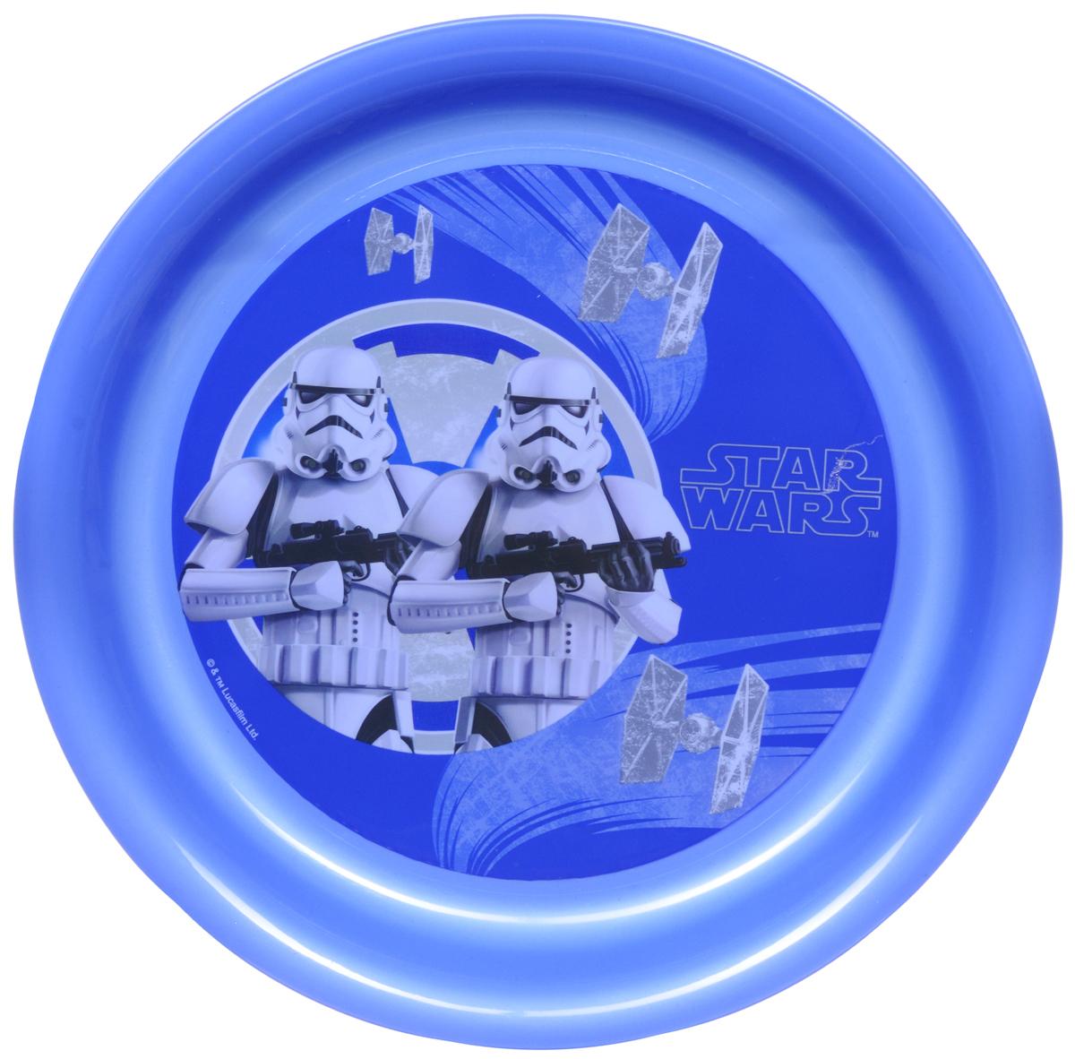 Star Wars Тарелка детская Штурмовики диаметр 19 см115610Детская тарелка Star Wars Штурмовики станет отличным подарком для любого фаната знаменитой саги. Она выполнена из полипропилена и оформлена рисунком с изображением имперских штурмовиков. Диаметр тарелки: 19 см. Не подходит для использования в посудомоечной машине и СВЧ-печи.