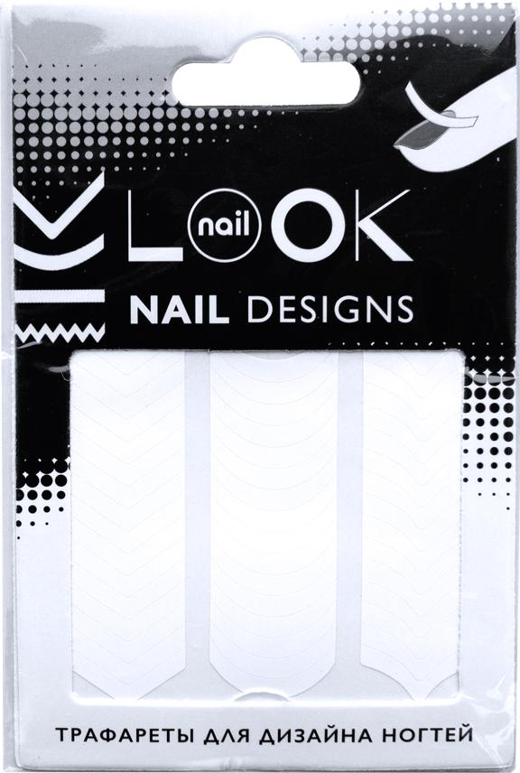 nailLOOK Трафареты для дизайна ногтей Tip Guides1301210Самоклеящиеся трафареты используются для создания классического французского маникюра, модного лунного маникюра, а также необычных дизайнов.