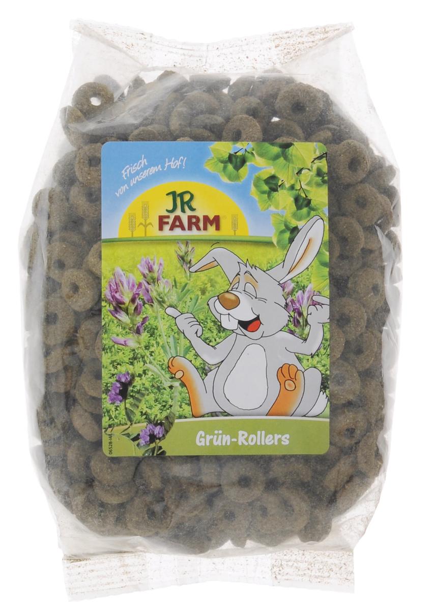 Лакомство для грызунов JR Farm Зеленые колечки, 500 г0120710Лакомство для грызунов JR Farm Зеленые колечки предлагается в качестве дополнительного рациона с содержанием клетчатки для разнообразного и сбалансированного питания. Содержит большое количество витаминов. Пищевые добавки для домашних кроликов, морских свинок, крыс, хомяков, мышей, шиншилл и дегу.Рекомендации по кормлению: в зависимости от размеров животного давать по 3 столовых ложек в день в чистом виде или смешивать с основной едой. Состав: злаки (кукуруза, рис), переработанные травы (люцерна), витамины и минералы.Содержание: белок 10,7%, сырой жир 3,5%, клетчатка 8,1%, зола 5,1%.Содержание витаминов/кг: Витамин А 10 000 МЕ, Витамин D3 1 000 МЕ, Витамин E 40 мг.Товар сертифицирован.