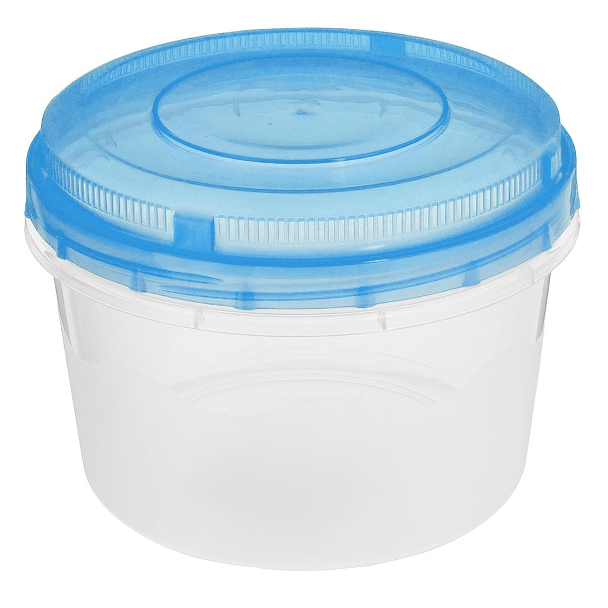 Емкость для СВЧ Альтернатива, цвет: прозрачный, голубой, 1 лМ1185_прозрачный, голубойКруглая емкость для СВЧ Альтернатива, выполненная из пластика, предназначена специально для хранения пищевых продуктов. Крышка легко открывается и плотно закрывается. Устойчива к воздействию масел и жиров, легко моется. Прозрачные стенки позволяют видеть содержимое. Емкость необыкновенно удобна: в ней можно брать еду на работу, за город, ребенку в школу. Именно поэтому подобные емкости обретают все большую популярность. Можно мыть в посудомоечной машине.
