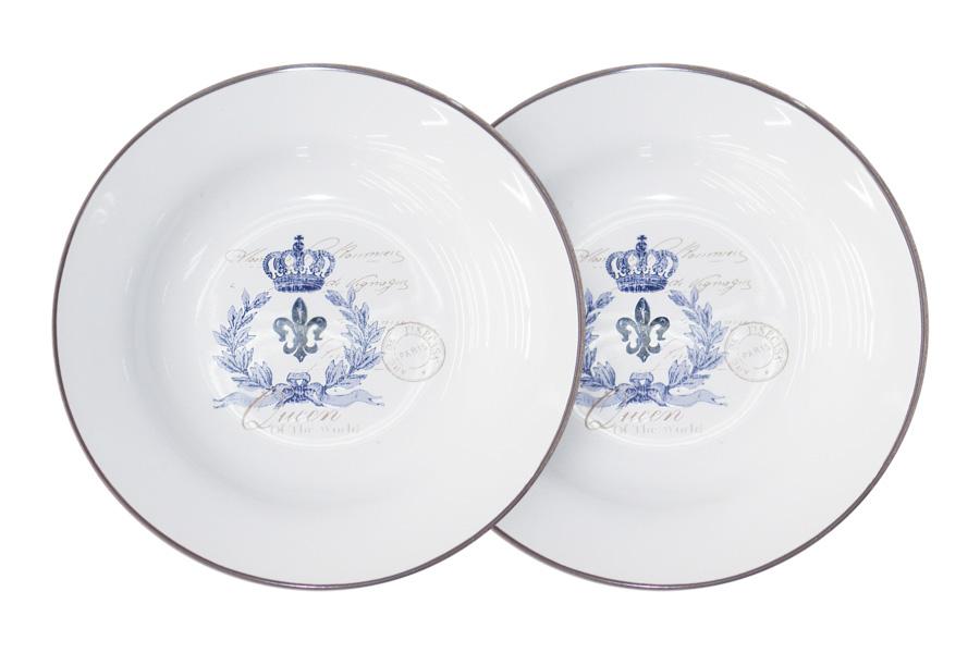 Набор суповых тарелок LF Ceramic Королевский, диаметр 21 см, 2 шт115510Набор LF Ceramic Королевский состоит из двух суповых тарелок, изготовленных из высококачественной керамики. Яркий дизайн изделий, несомненно, придется вам по вкусу.Набор LF Ceramic Королевский украсит ваш кухонный стол, а также станет замечательным подарком к любому празднику.Диаметр (по верхнему краю): 21 см.