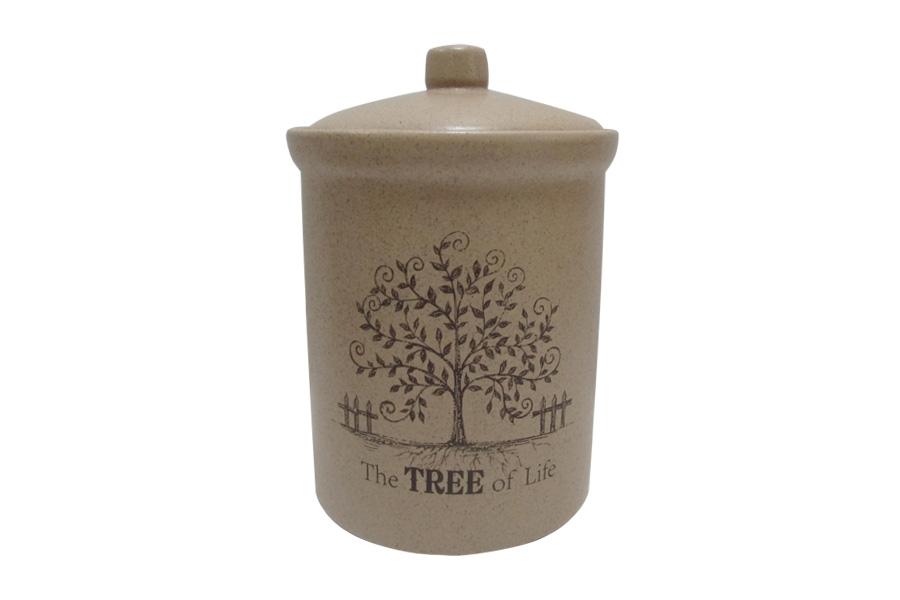Банка для сыпучих продуктов Terracotta Дерево жизни, высота 18 смTLY301-2-TL-ALБанка для сыпучих продуктов Terracotta Дерево жизни изготовлена из высококачественной керамики без содержания химических примесей. Изделие декорировано изображением дерева и дополнено надписью: The Tree of Life. Банка идеальна для хранения чая, кофе, специй, орехов, сухофруктов и других сыпучих продуктов. В ней продукты сохранят свой вкус и аромат, а также будут защищены от солнца, влаги и насекомых. Упаковка выполнена в фирменном стиле, что делает продукцию не только полезным, но и красивым подарком. Допускается мытье в посудомоечной машине при соблюдении инструкции изготовителя посудомоечной машины. Высота банки: 18 см.