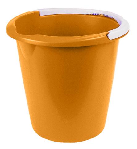 Ведро Curver, цвет: оранжевый, 10 л1301_оранжевыйВедро Curver выполнено из прочного пластика. Изделие снабжено небольшим носиком и удобной рельефной ручкой. На внутреннюю поверхность нанесены отметки литража. Такое ведро пригодится в любом хозяйстве, оно отлично подойдет для мытья полов или хранения мусора.