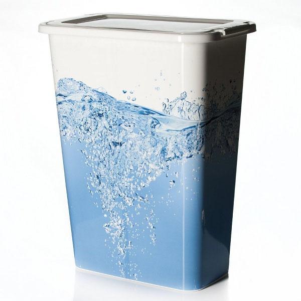 Корзина для белья Idea Вода, узкая, 35 л25051 7_желтыйУзкая корзина для белья Idea Вода изготовлена из высокопрочного износостойкого пластика и оформлена красочным рисунком. Предназначена для хранения грязного белья перед стиркой. Изделие снабжено удобной крышкой. Благодаря яркому необычному дизайну, такая корзина станет настоящим украшением ванной комнаты.
