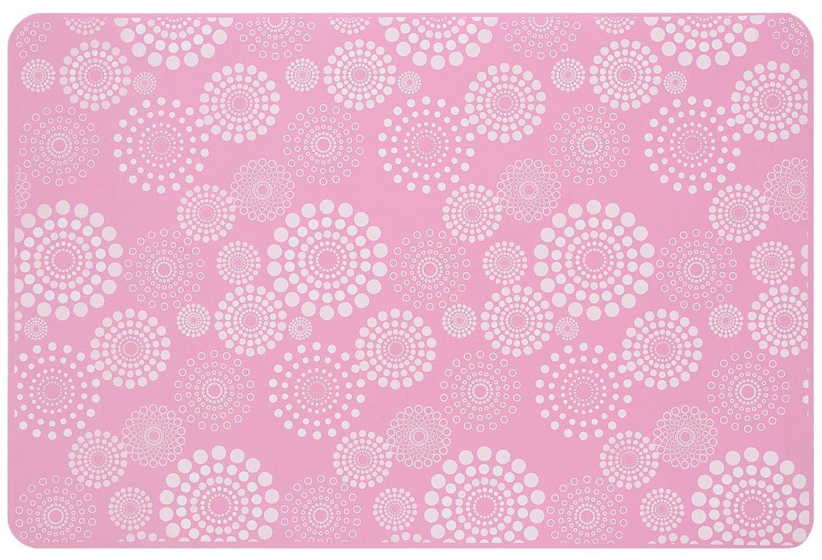 Коврик силиконовый Mayer & Boch, цвет: розовый, белый, 45 х 30 см21992_розовый, белыйСиликоновый коврик Mayer & Boch предназначен для приготовления выпечки. Он быстро нагревается, равномерно пропекает, не допускает подгорания выпечки с краев или снизу. Нет необходимости смазывать коврик маслом. Вынимать продукты из изделия очень легко. Слегка оттяните коврик в сторону, и ваша выпечка легко выскользнет из него. Изделие не ржавеет и на нем не образуются пятна. Нет необходимости изменять температуру приготовления. Силиконовый коврик можно безбоязненно помещать в морозильную камеру, холодильник, микроволновую печь, посудомоечную машину и духовой шкаф.