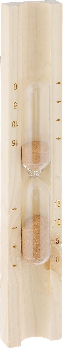 Часы песочные для бани и сауны Доктор баня, цвет песка: коричневый904635_коричневыйПесочные часы Доктор баня выполнены из натурального дерева и термостойкого стекла. Внутри стеклянных колб - цветной кварцевый песок. Часы предназначены для использования в бане и сауне. Они не боятся высоких температур и влажности. Благодаря таким часам вы сможете правильно определить длительность процедур. Часы имеют шкалу, отмеряющую 5, 10 и 15 минут.