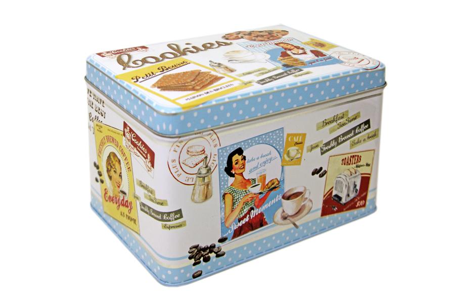 Коробка для печенья Nuova R2S Винтаж, 22 х 14 х 13 смR2S080/VHCB-ALКоробка для печенья Nuova R2S Винтаж изготовлена из металла с декором в винтажном стиле. Такая коробка прекрасно подойдет для хранения печенья, конфет и других сладостей, а также орехов или сухофруктов. Изделие отлично дополнит коллекцию ваших кухонных аксессуаров и порадует вас оригинальным дизайном.