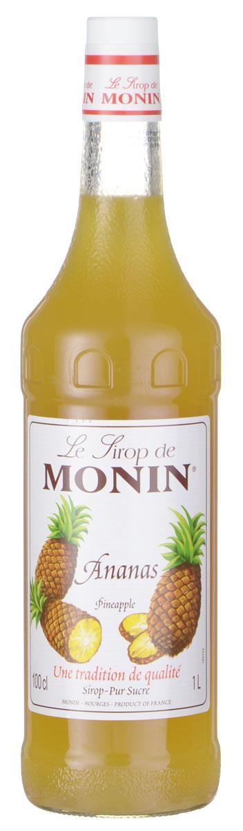 Monin Ананас сироп, 1 л0120710Ананасовый сироп Monin имеет сочный и освежающий вкус. Он идеально подходит для газированных напитков, коктейлей и пуншей.Испанские исследователи обнаружили ананас в пышной тропической части Южной Америки и привезли фрукты в Европу. Они думали, что ананасы похожи на сосновые шишки, поэтому они назвали их Pina. Британцы добавили Яблоко в переводе сердцевина (сосны) и восхитительное английское название плода было сделано. Когда речь идет о чистом вкусе ананаса, сироп Monin - самый легкий выбор акцентировать бесчисленные напитки.Сиропы Monin выпускает одноименная французская марка, которая известна как лидирующий производитель алкогольных и безалкогольных сиропов в мире. В 1912 году во французском городке Бурже девятнадцатилетний предприниматель Джордж Монин основал собственную компанию, которая специализировалась на производстве вин, ликеров и сиропов. Место для завода было выбрано не случайно: город Бурже находился в непосредственной близости от крупных сельскохозяйственных районов — главных поставщиков свежих ягод и фруктов.