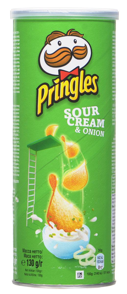 Pringles картофельные чипсы со вкусом сметаны и лука, 130 г7000447000Картофельные чипсы Pringles со вкусом сметаны и лука подарят вам неповторимый вкус этого совершенного сочетания.