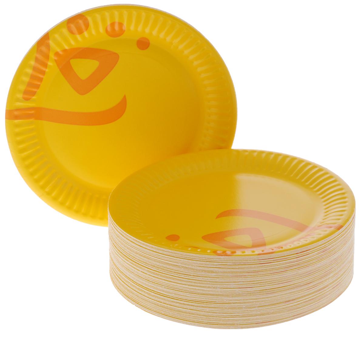 Набор одноразовых тарелок Huhtamaki Whizz, цвет: оранжевый, диаметр 15 см, 100 штПОС06122Набор Huhtamaki Whizz состоит из 100 круглых тарелок, выполненных из плотной бумаги и предназначенных для одноразового использования. Изделия декорированы оригинальным узором. Одноразовые тарелки будут незаменимы при поездках на природу, пикниках и других мероприятиях. Они не займут много места, легки и самое главное - после использования их не надо мыть. Диаметр тарелки (по верхнему краю): 15 см.