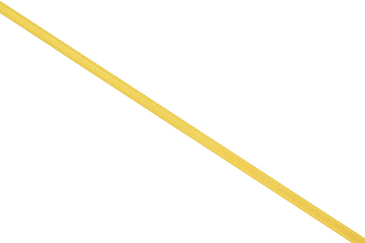Лента атласная Prym, цвет: золотистый, ширина 3 мм, длина 50 м697069_20Атласная лента Prym изготовлена из 100% полиэстера. Область применения атласной ленты весьма широка. Изделие предназначено для оформления цветочных букетов, подарочных коробок, пакетов. Кроме того, она с успехом применяется для художественного оформления витрин, праздничного оформления помещений, изготовления искусственных цветов. Ее также можно использовать для творчества в различных техниках, таких как скрапбукинг, оформление аппликаций, для украшения фотоальбомов, подарков, конвертов, фоторамок, открыток и многого другого. Ширина ленты: 3 мм. Длина ленты: 50 м.