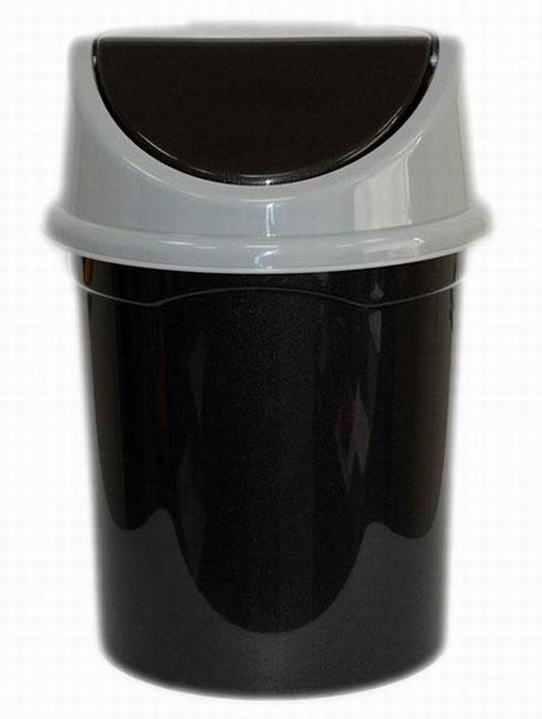 Контейнер для мусора Violet, цвет: черный, серый, 8 л0408/65Контейнер для мусора Violet, изготовленный из прочного полипропилена, снабжен удобной съемной крышкой с подвижной перегородкой. В нем удобно хранить мелкий мусор. Благодаря лаконичному дизайну такой контейнер идеально впишется в интерьер дома или офиса.