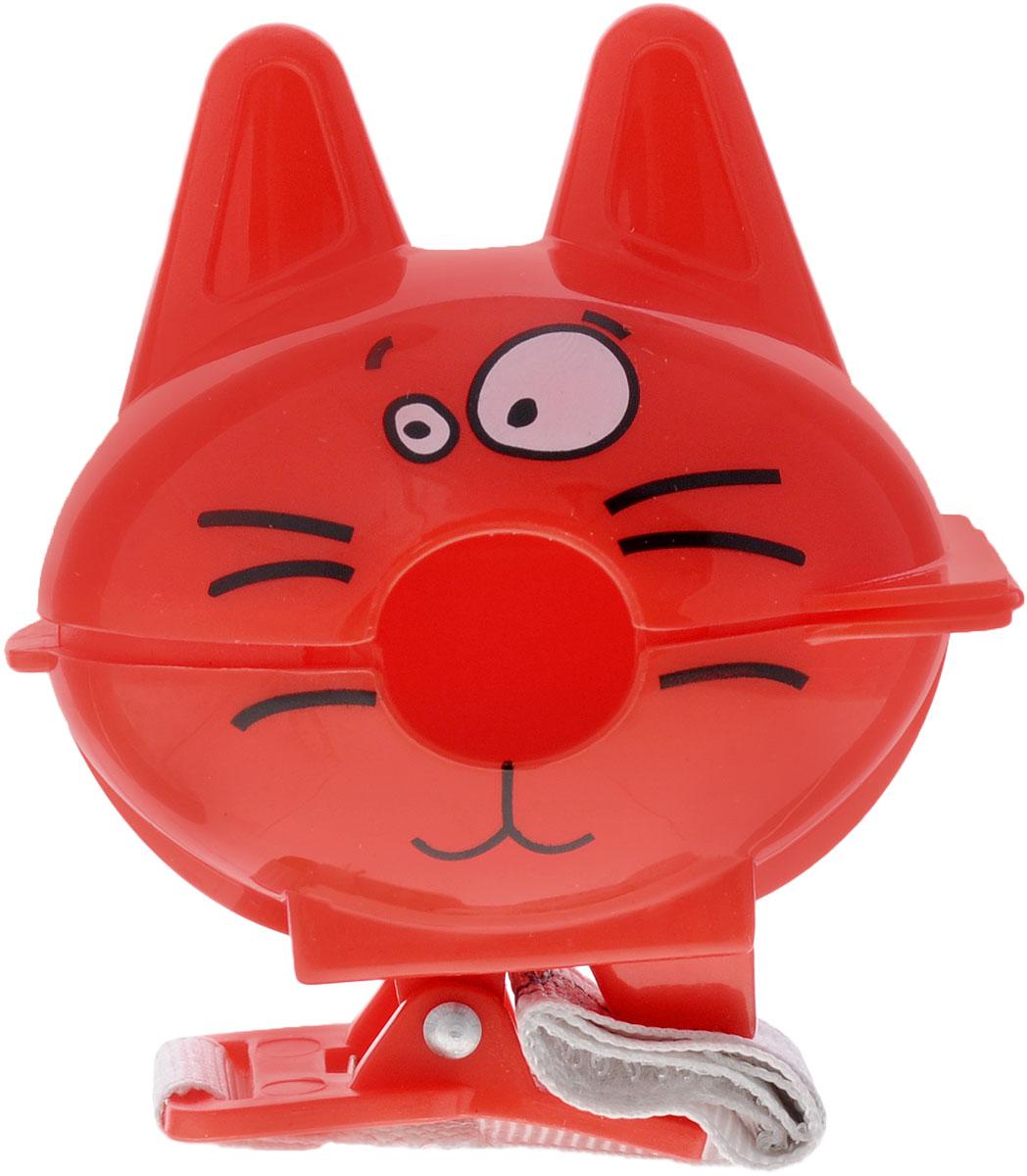 Bebe Confort Футляр-клипса для пустышки Котик цвет красный 30001170_красный