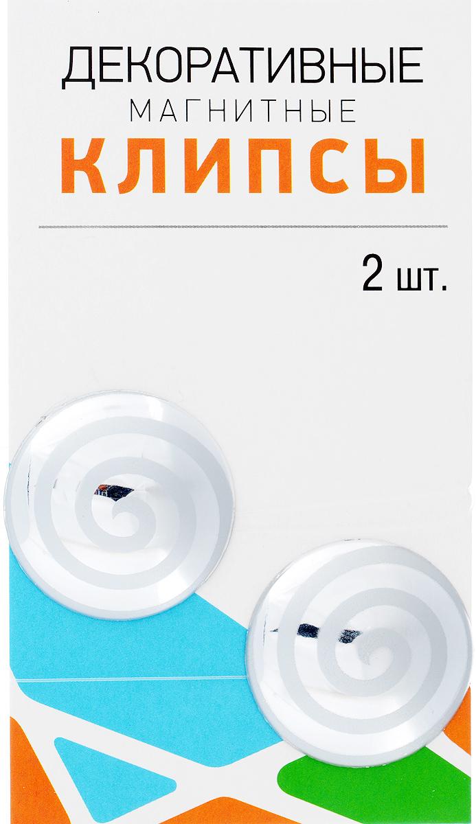 Клипсы магнитные для штор SmolTtx Гипноз, с леской, цвет: серебристый, длина 33,5 см, 2 шт544091_1БМагнитные клипсы SmolTtx Гипноз предназначены для придания формы шторам. Изделие представляет собой соединенные леской два элемента, на внутренней поверхности которых расположены магниты. С помощью такой клипсы можно зафиксировать портьеры, придать им требуемое положение, сделать складки симметричными или приблизить портьеры, скрепить их. Следует отметить, что такие аксессуары для штор выполняют не только практическую функцию, но также являются одной из основных деталей декора, которая придает шторам восхитительный, стильный внешний вид. Длина клипсы (с учетом лески): 33,5 см. Диаметр клипсы: 3,5 см.
