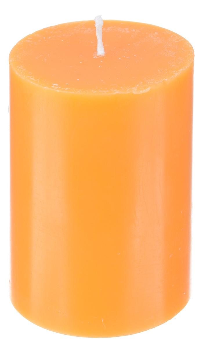 Свеча декоративная Proffi, цвет: оранжевый, высота 8 смPH5894Декоративная свеча Proffi выполнена из парафина и стеарина в классическом стиле. Изделие порадует вас ярким дизайном. Такую свечу можно поставить в любое место, и она станет ярким украшением интерьера. Свеча Proffi создаст незабываемую атмосферу, будь то торжество, романтический вечер или будничный день.
