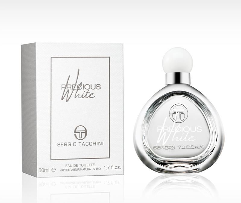 Sergio Tacchini  PRECIOUS WHITE WOMAN туалетная вода 30 мл12894Древесные, цветочные. Водяные ноты, магнолия, роза, махагони, мускус, сандаловое дерево, арбуз, груша, персик