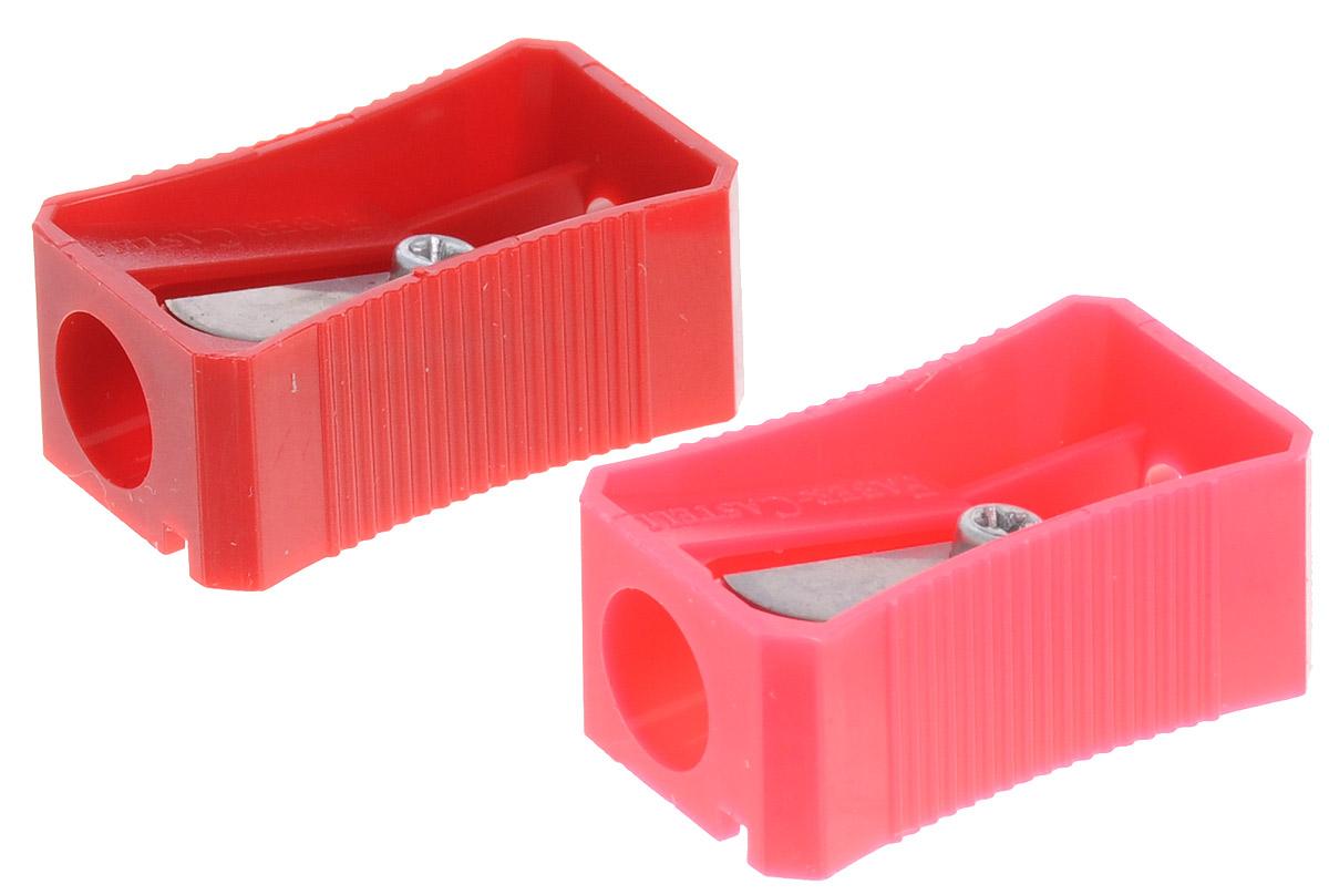 Faber-Castell Точилка цвет красный розовый 2 штACL0010BНабор точилок Faber-Castell предназначен для затачивания классических простых и цветных карандашей. В наборе две точилки из прочного пластика с рифленой областью захвата. Острые стальные лезвия обеспечивают высококачественную и точную заточку деревянных карандашей.