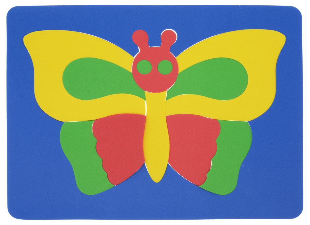 Фантазер Пазл для малышей Бабочка цвет основы синий 064551Б